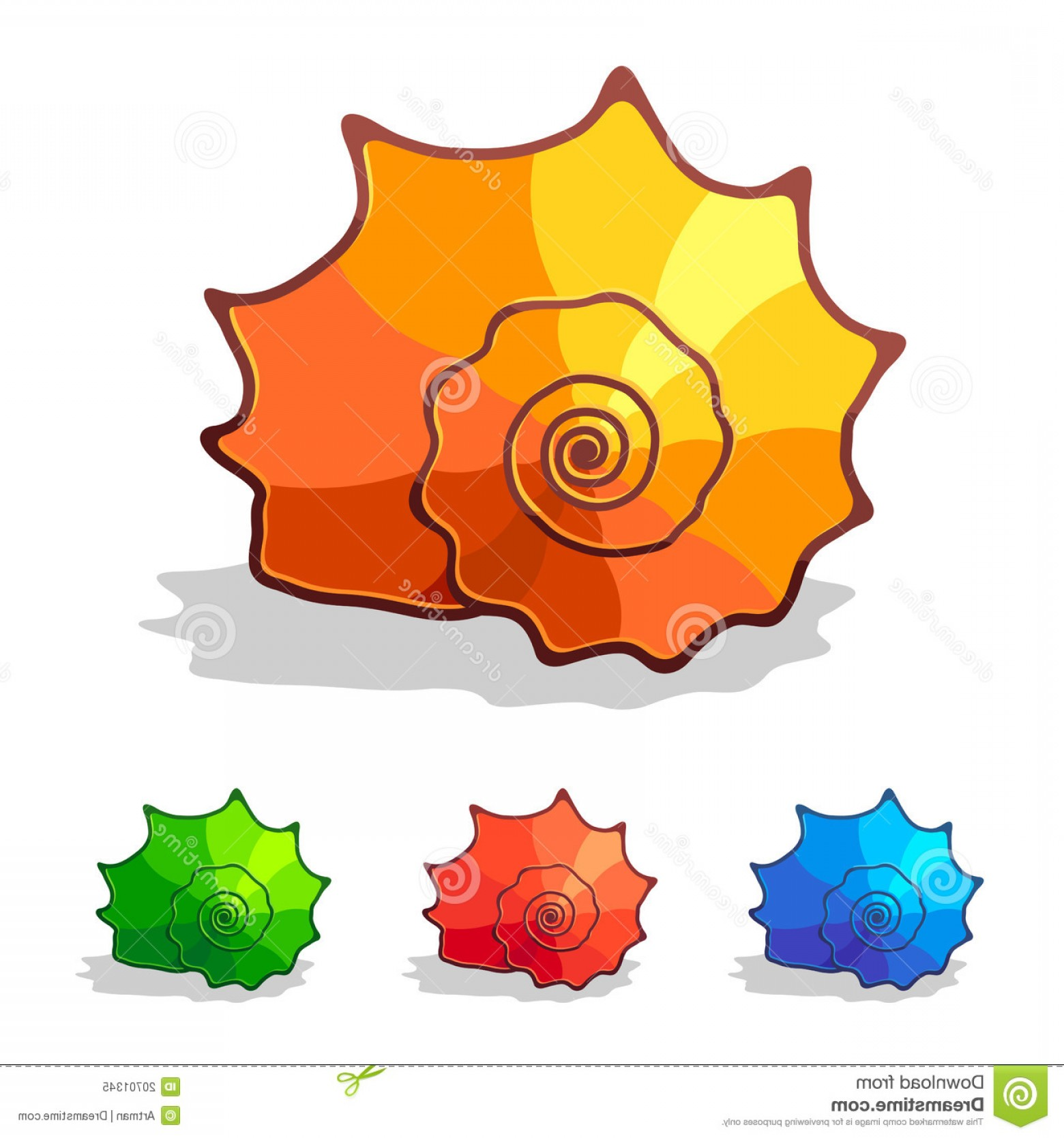 Shell Vector Icons: Royalty Free Stock Photo Sea Shell Vector Icon Image