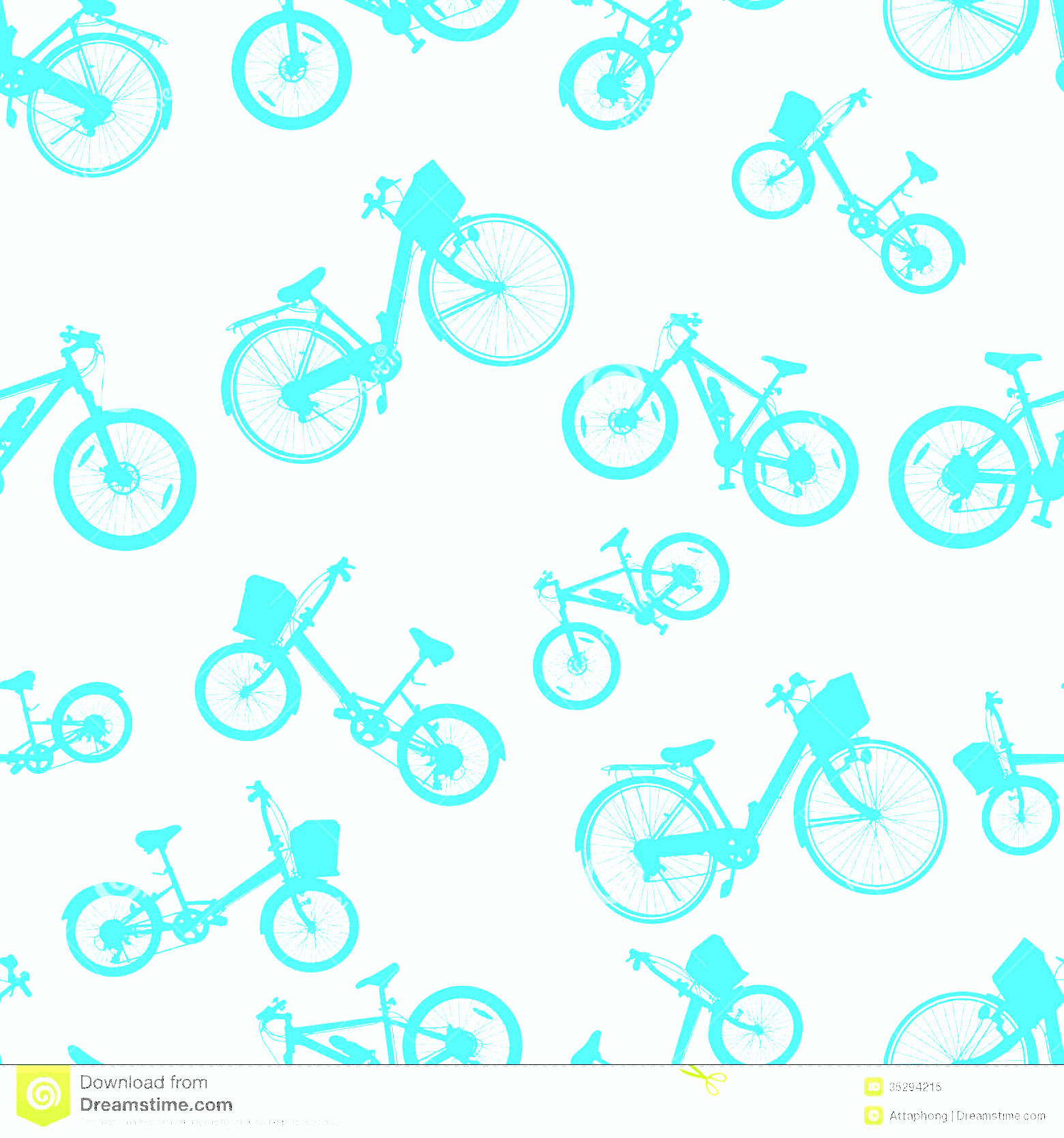 Bicycle Vector Artwork Of Patterns: Royalty Free Stock Photo Seamless Blue Bicycle Bike Vector Ride Pattern Background Illustration Image