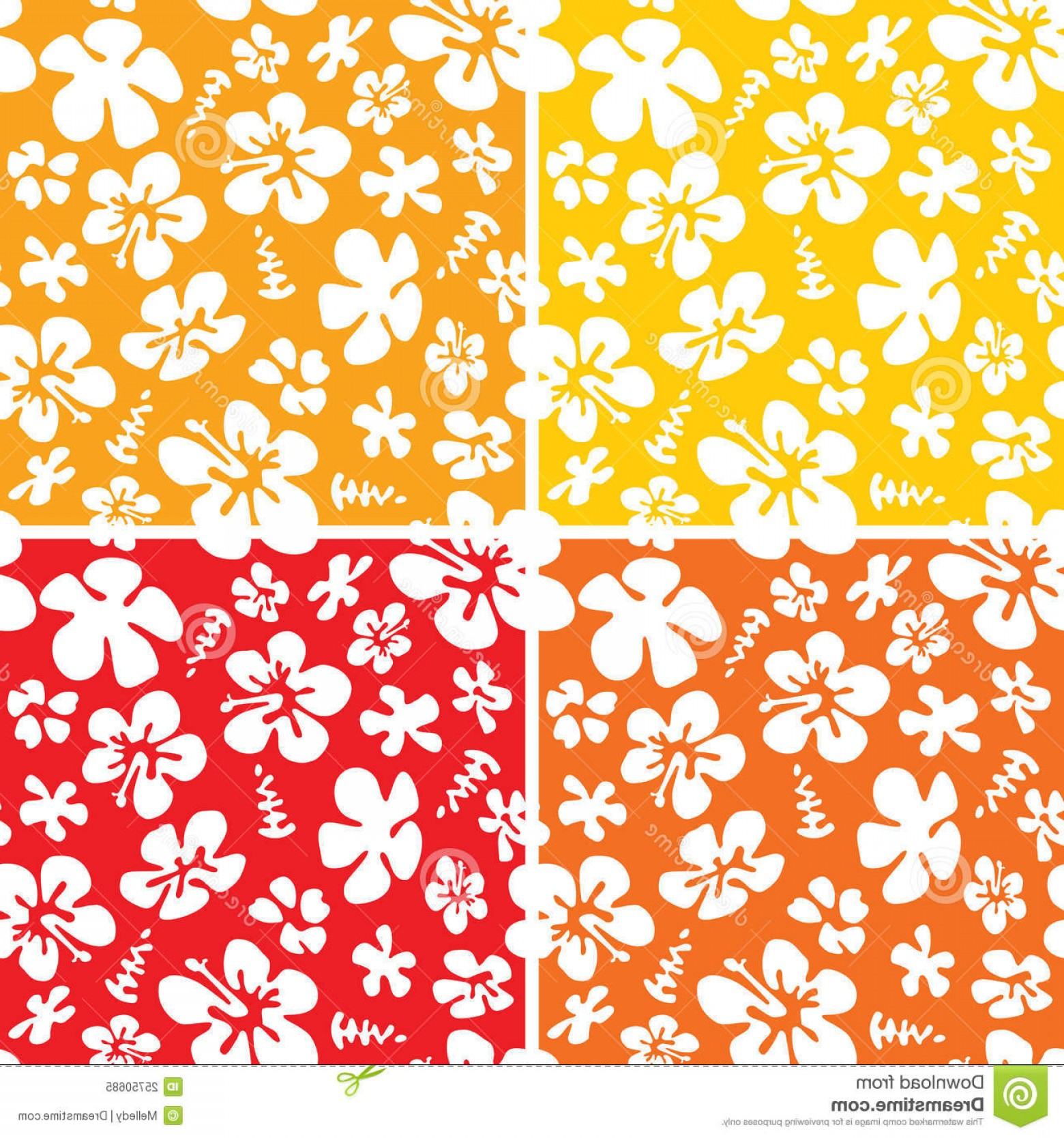 Hawaiian Pattern Vector: Royalty Free Stock Photo Seamless Hawaiian Pattern Image