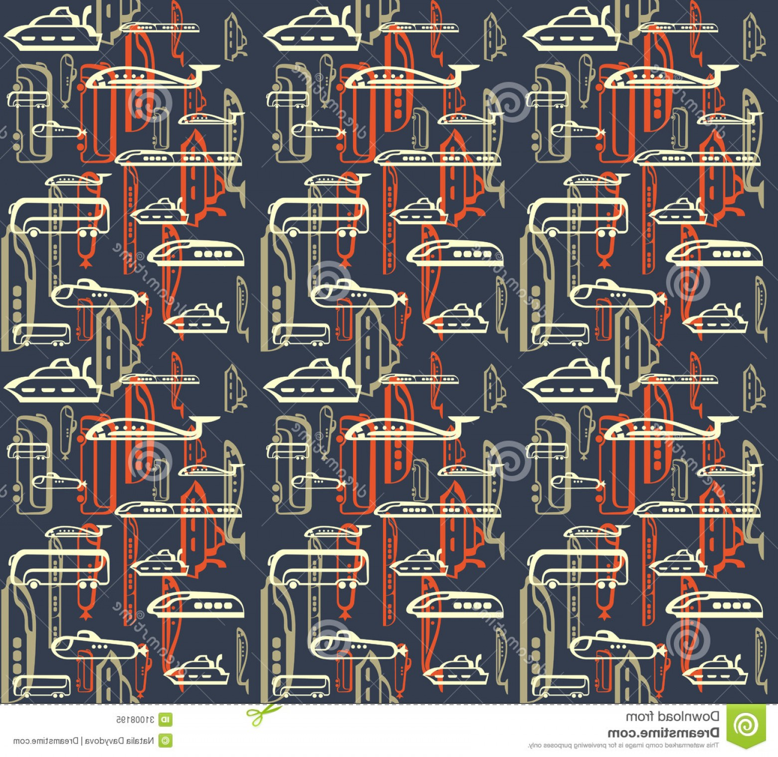 Vector Train Pattern: Royalty Free Stock Photo Seamless Pattern Traffic Means Transportation Bus Plane Ship Train Submarine Eps Vector Image