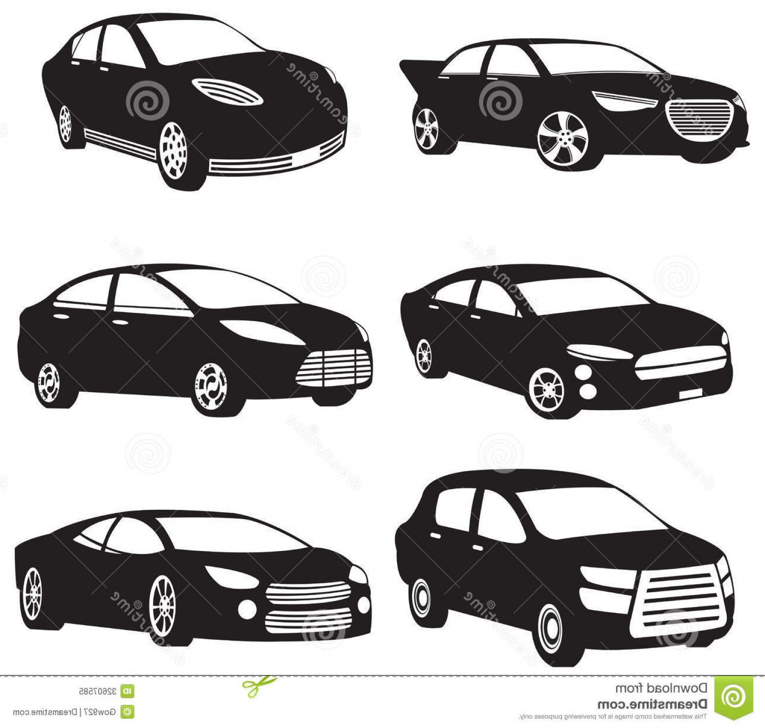 Car Silhouette Vector Free: Royalty Free Stock Photo Sets Silhouette My Original Model Cars Create Vector Image