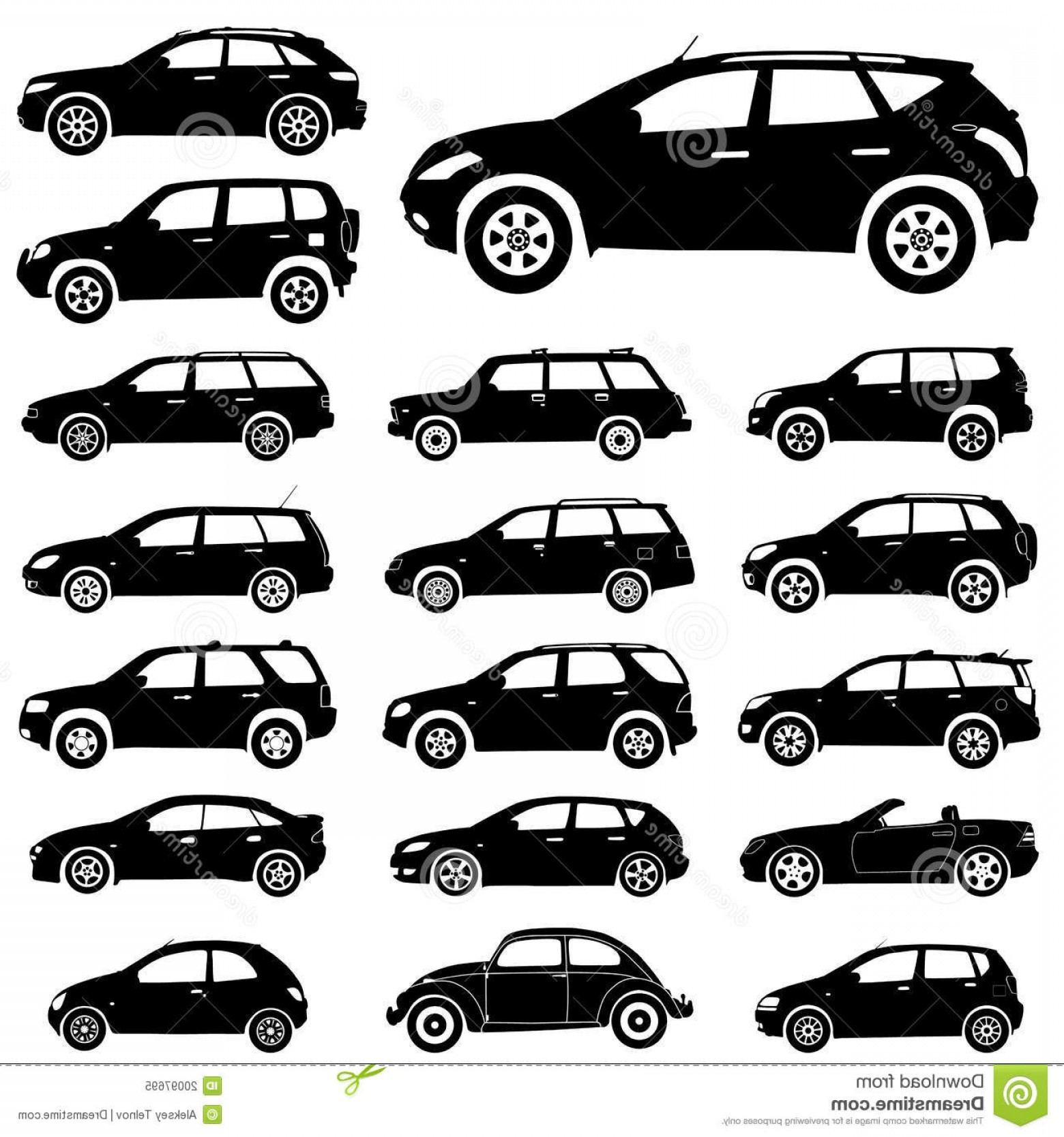 SUV Car Elevation Vector: Royalty Free Stock Photo Silhouette Cars Image