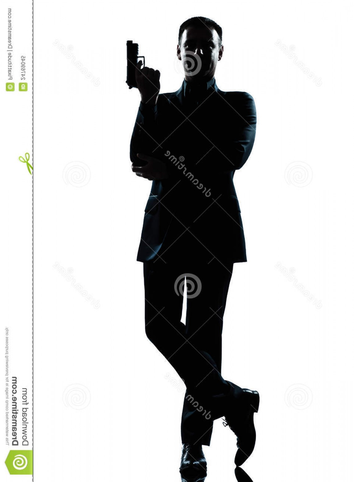 James Bond Silhouette Vector: Royalty Free Stock Photo Silhouette Man Secret Agent James Bond Posture Image