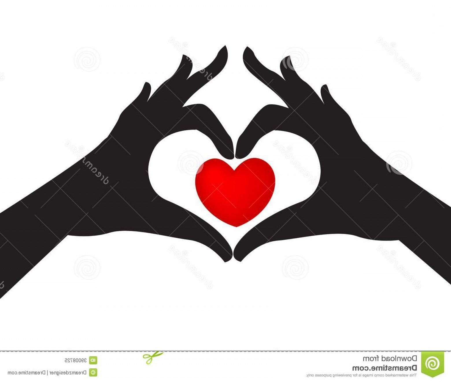 Heart In Hand Vector Clip Art: Royalty Free Stock Photo Silhouetted Hands Love Heart Pair Around Red White Studio Background Image