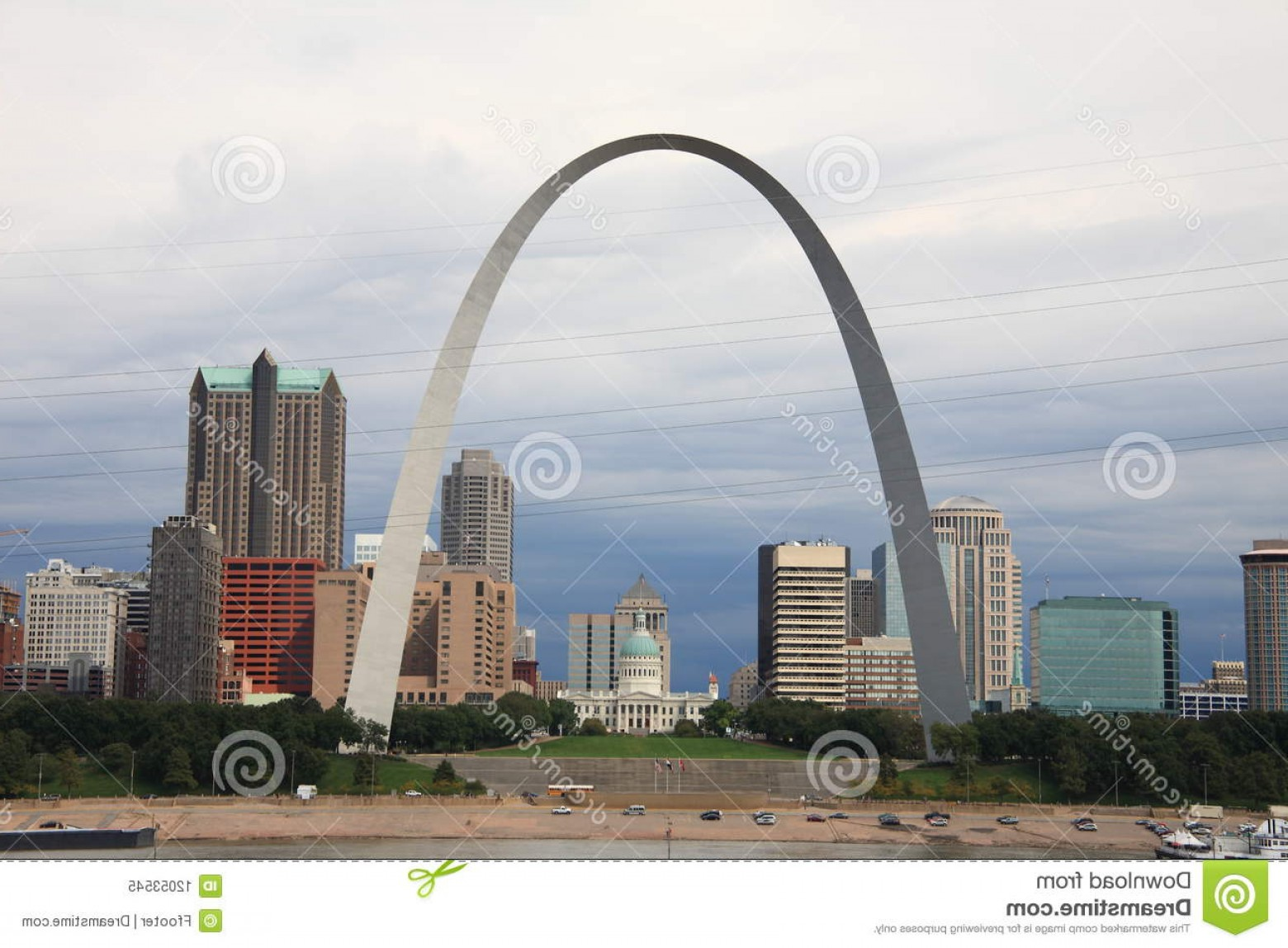 Arch Vector Illinios: Royalty Free Stock Photo St Louis Skyline Gateway Arch Image