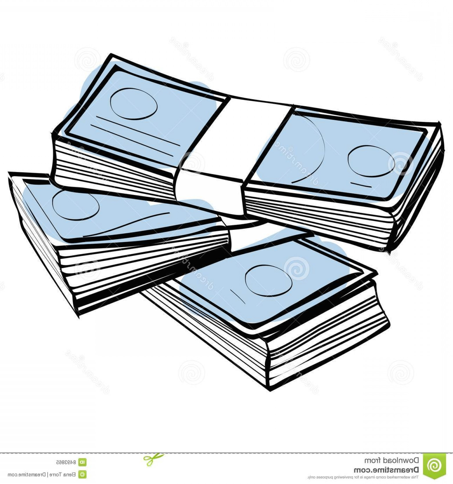 Hundreds Of Money Stacks Vector: Royalty Free Stock Photo Stack Money Image