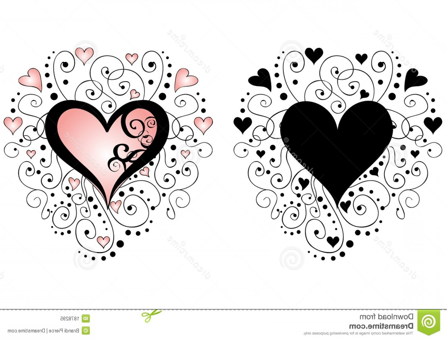 Love Heart Swirl Vector: Royalty Free Stock Photo Swirls Hearts Vector Image