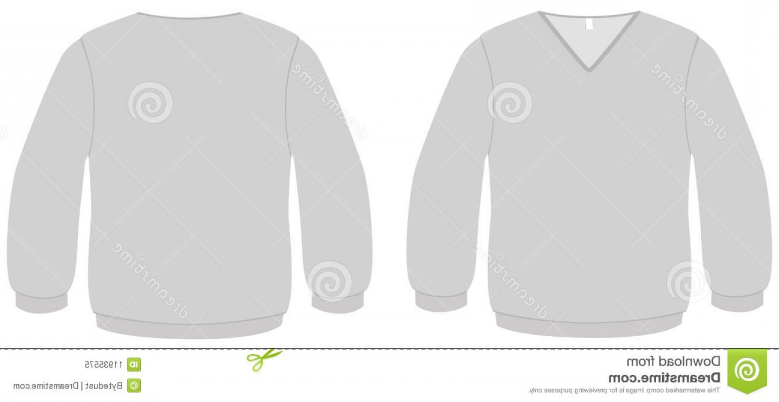 V-Neck Template Vector: Royalty Free Stock Photo V Neck Sweater Template Vector Illustration Image