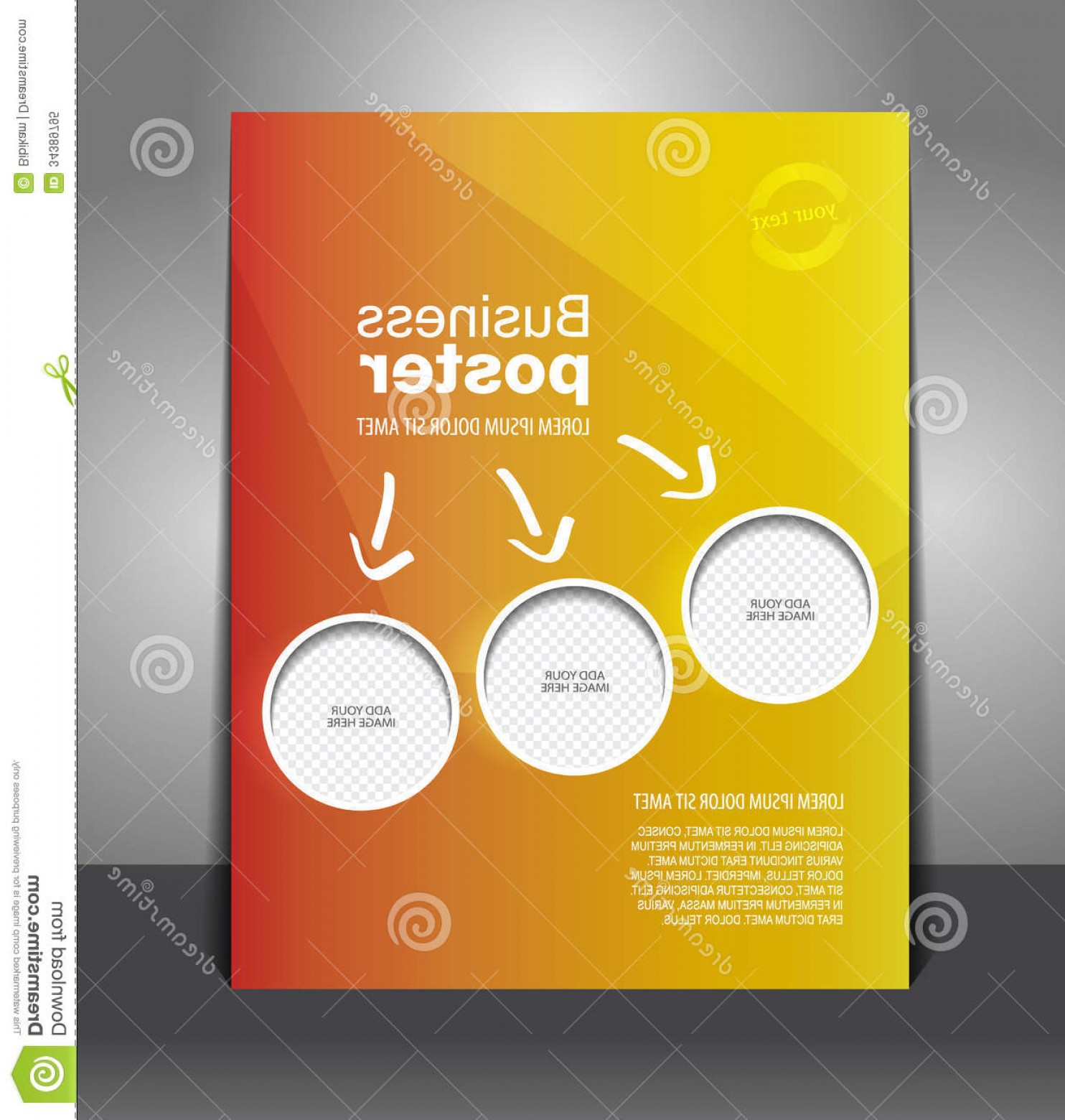 Vector Posters Design: Royalty Free Stock Photo Vector Design Color Flyer Place Image Magazine Cover Poster Template Image