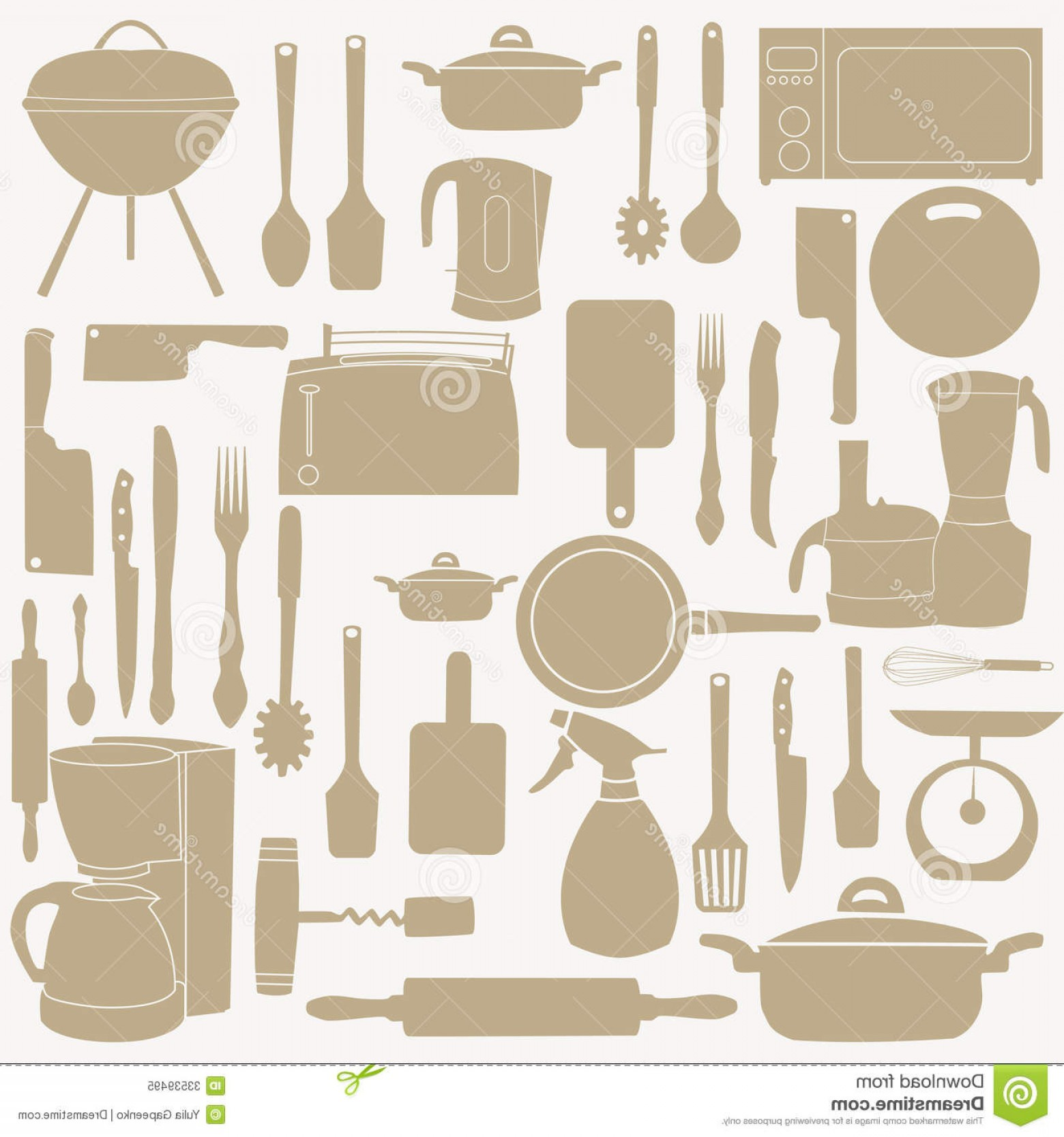Vector Chef Utensils: Royalty Free Stock Photo Vector Illustration Kitchen Tools Cooking File Eps Format Image