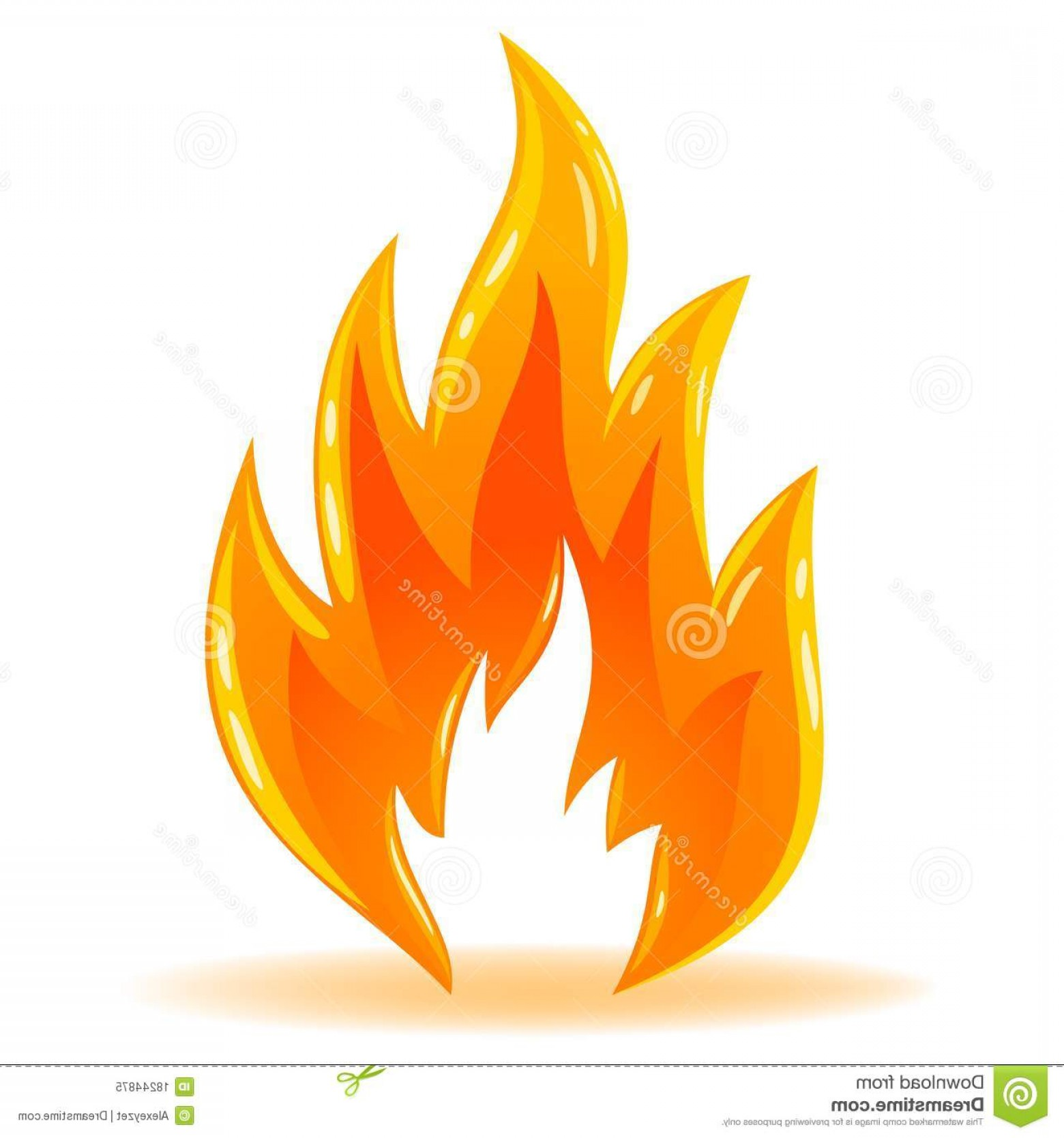 Fire Clip Art Vector: Royalty Free Stock Photo Vector Symbol Fire Shiny Flame Image