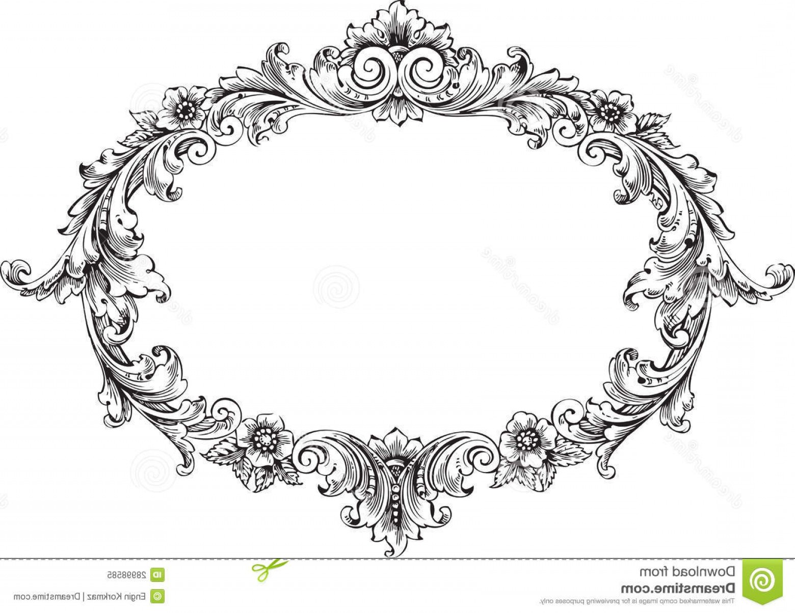 Victorian Style Frame Vector: Royalty Free Stock Photo Victorian Frame Image