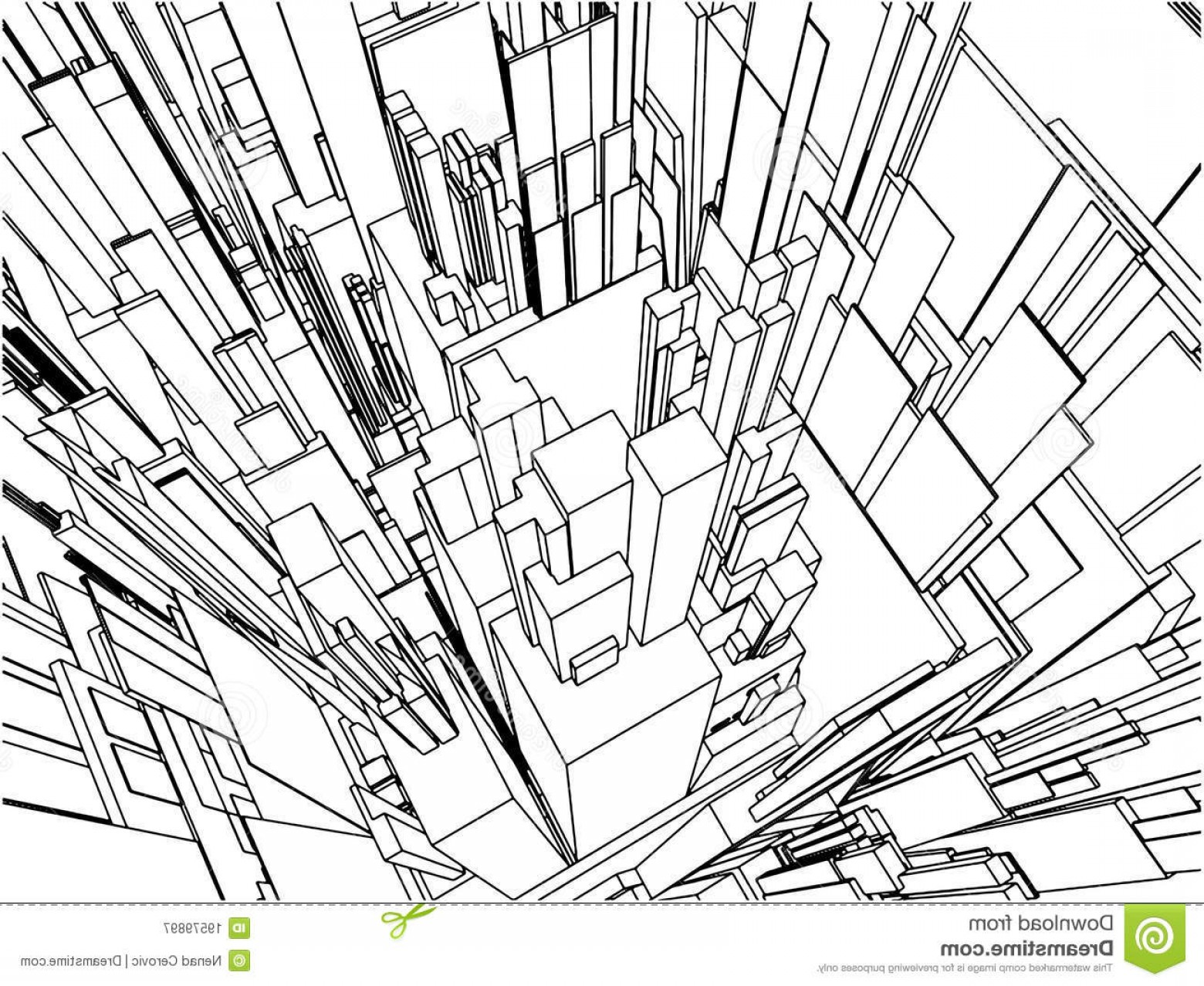 City Building Vector Free Download: Royalty Free Stock Photography Abstract Urban City Building Vector Image