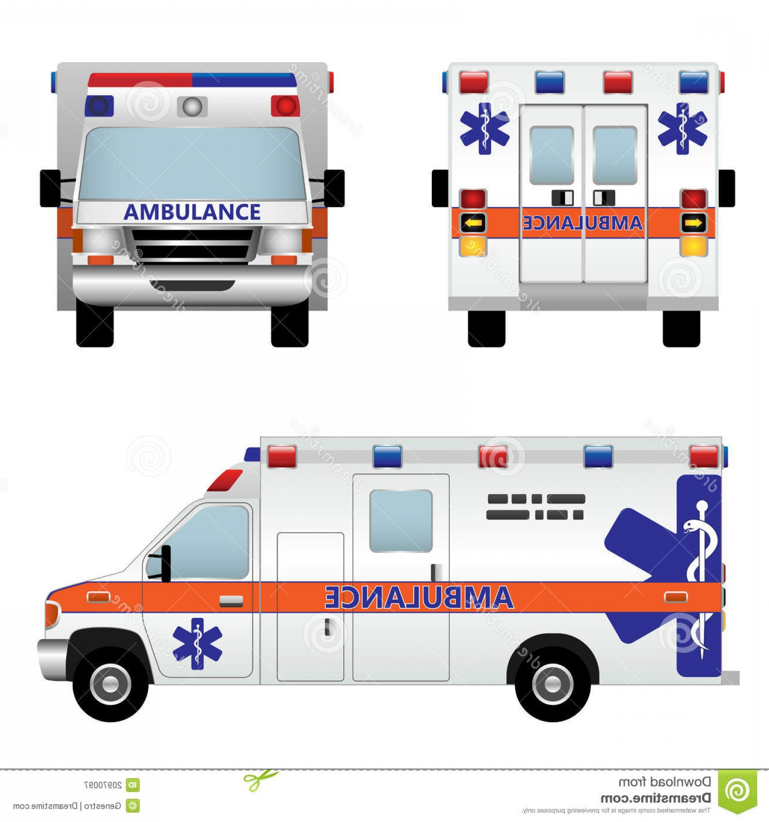 Car Vector Front Elevation: Royalty Free Stock Photography Ambulance Car Image