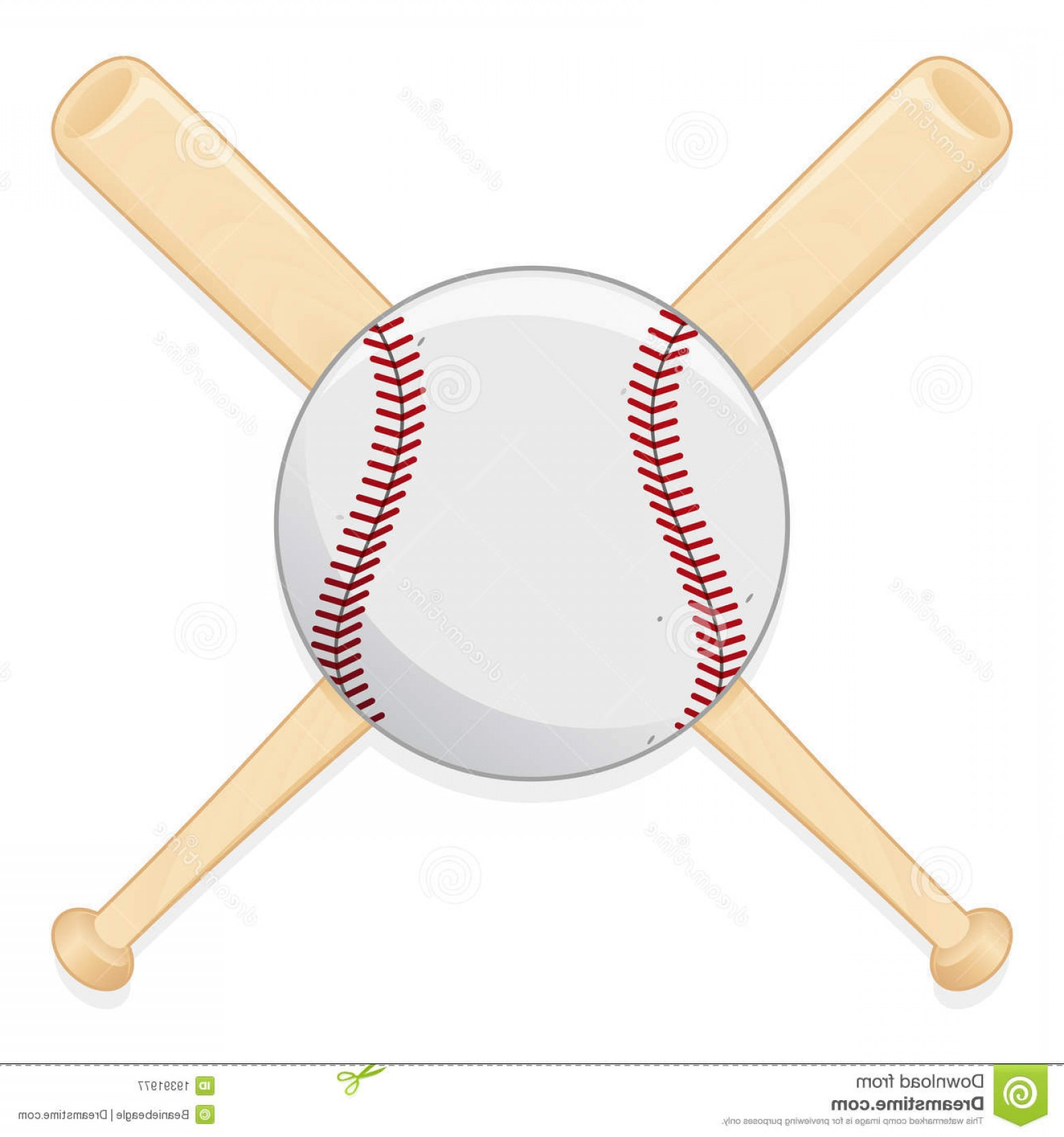 Vector Baseball Cross: Royalty Free Stock Photography Baseball Bat Ball Image