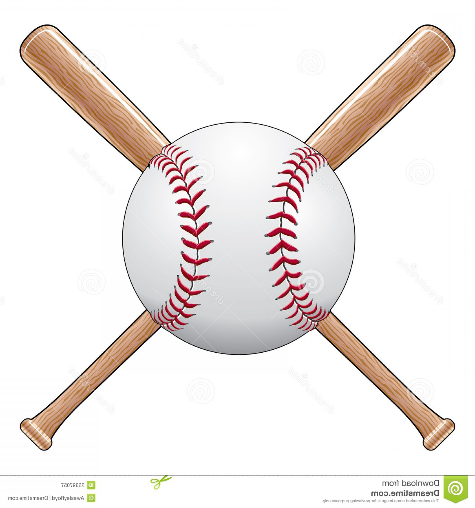 Vector Baseball Cross: Royalty Free Stock Photography Baseball Bats Image
