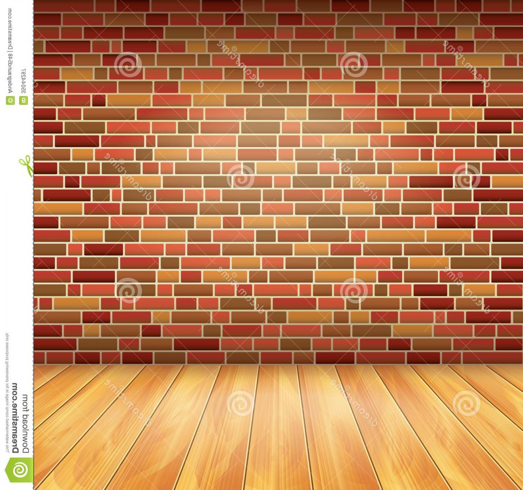 Wall Background Vector: Royalty Free Stock Photography Brick Wall Wood Floor Vector Background Interior Image