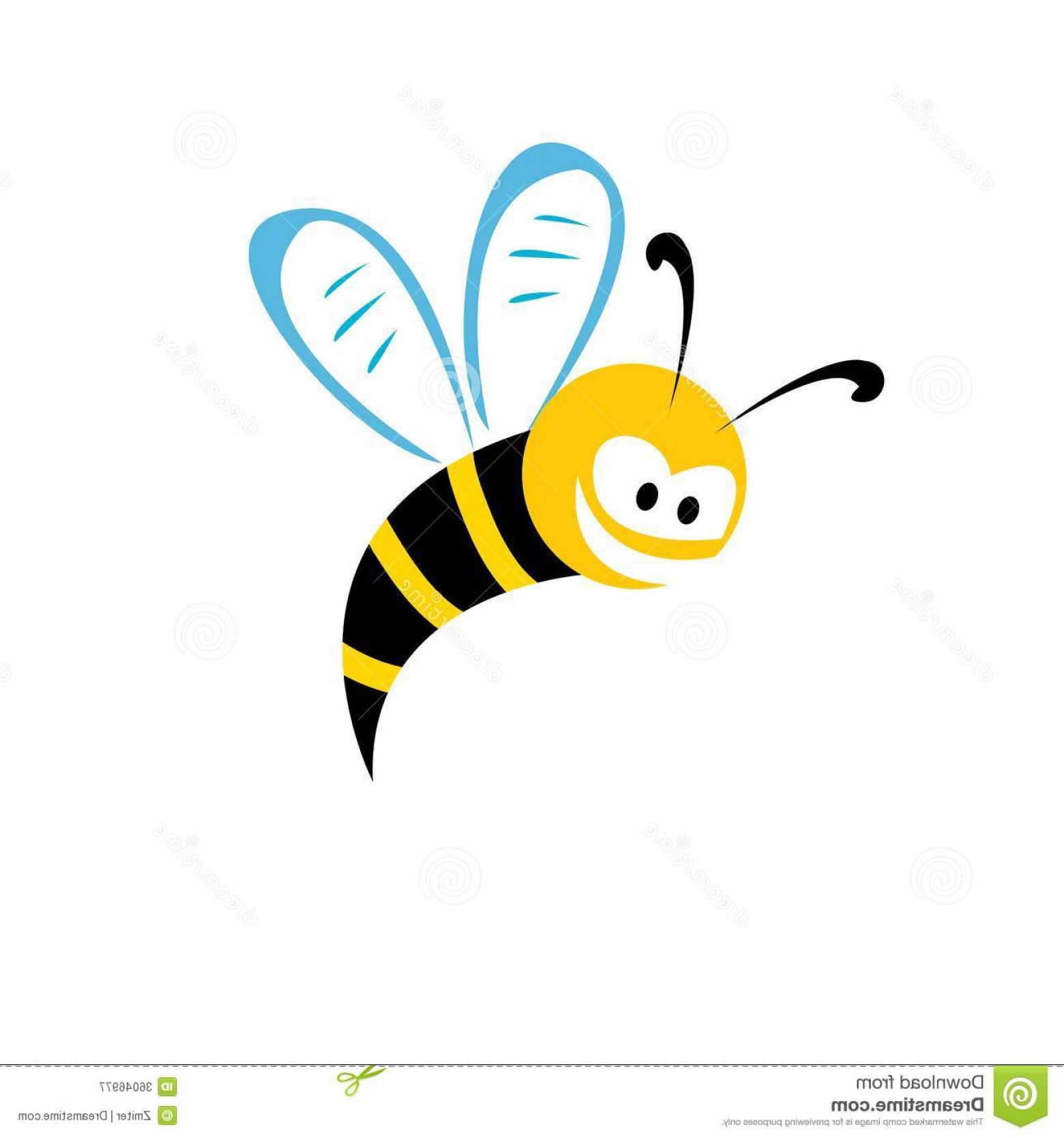 Vector Bee Icon: Royalty Free Stock Photography Cartoon Cute Bright Baby Bee Vector Illustration Icon Image
