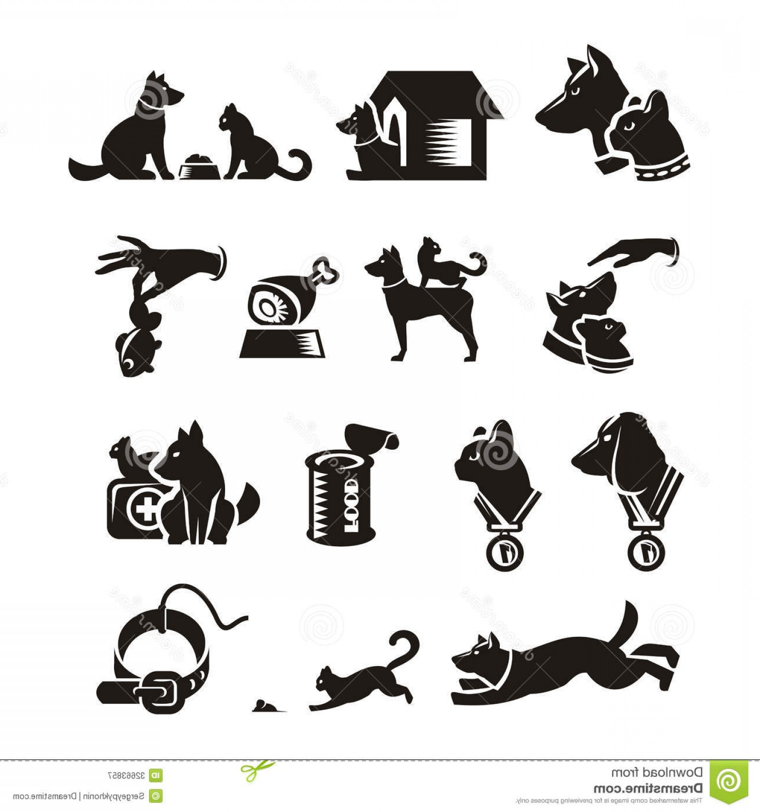 Dog And Cat Vector Illustration: Royalty Free Stock Photography Cat Dog Authors Illustration Vector Image