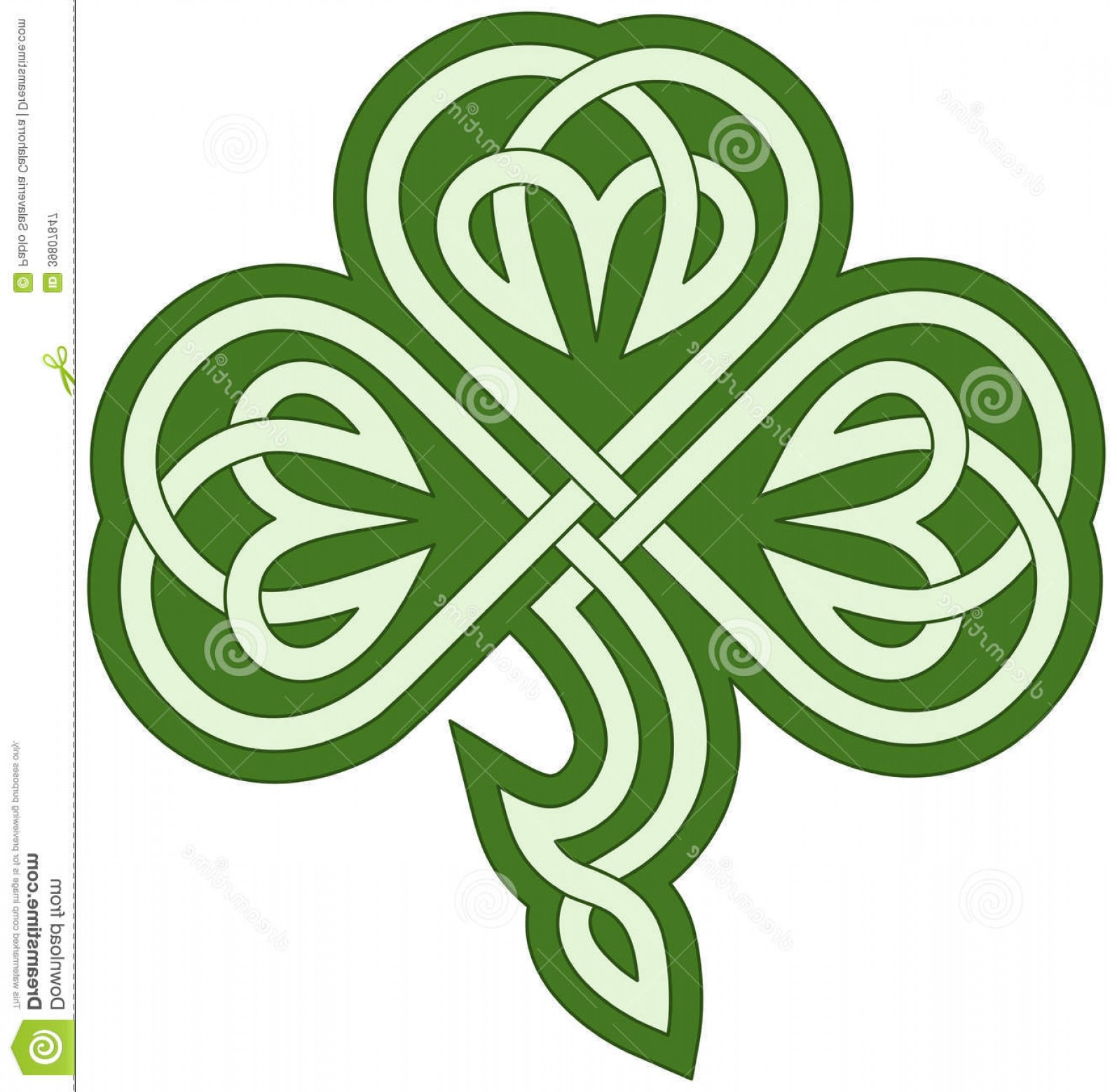 Four Leaf Clover Vector Art Black And White: Royalty Free Stock Photography Celtic Clover Vector Drawing Tribal Image