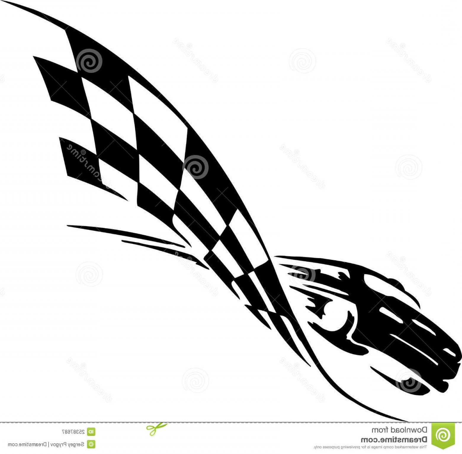 Tribal Vector Race Car: Royalty Free Stock Photography Checkered Flag Symbol Racing Image