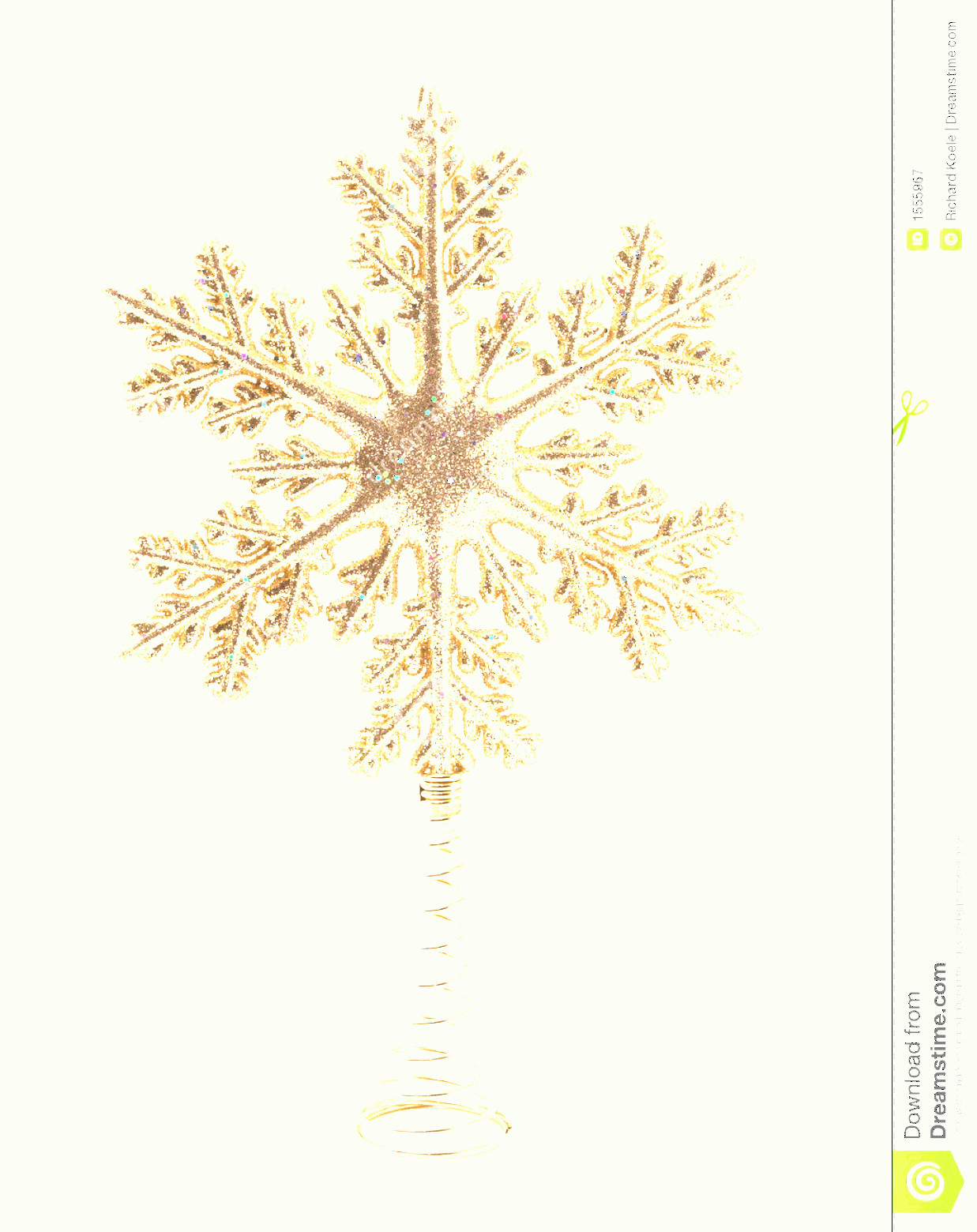 Vector Christmas Toppers: Royalty Free Stock Photography Christmas Tree Topper Image
