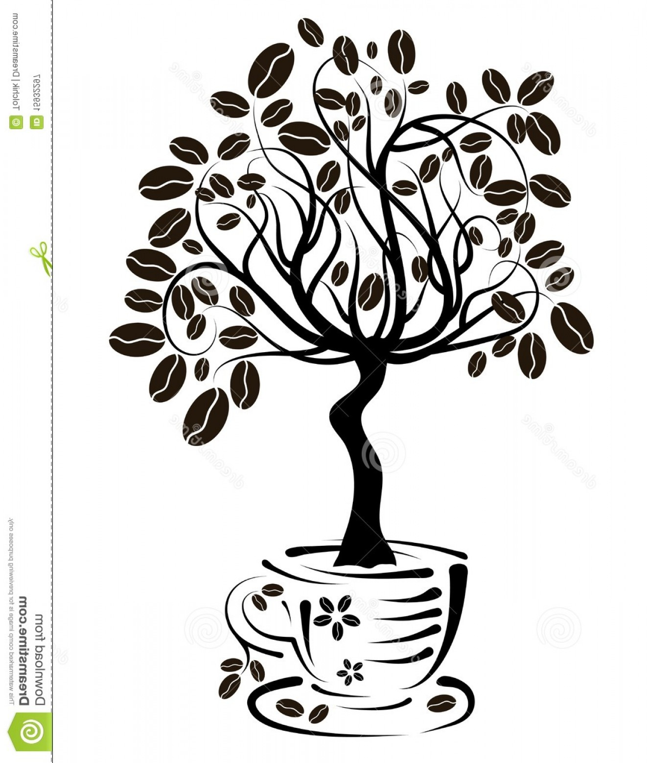 Coffee Tree Vector: Royalty Free Stock Photography Coffee Tree Cup Vector Image