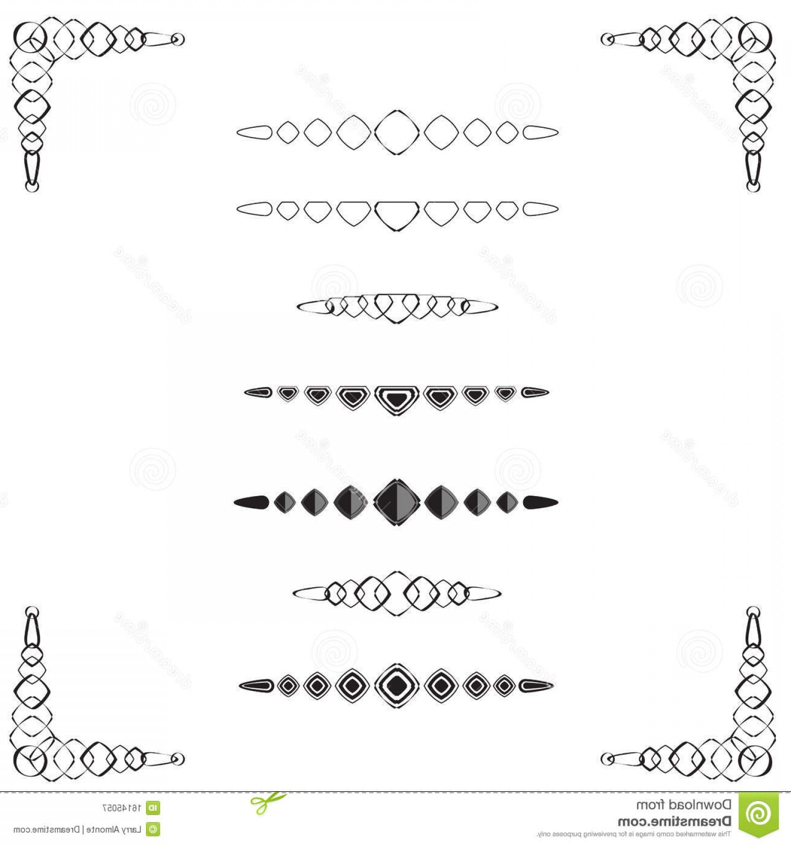 Loose Diamond Border Vector: Royalty Free Stock Photography Diamond Shaped Page Dividers Image