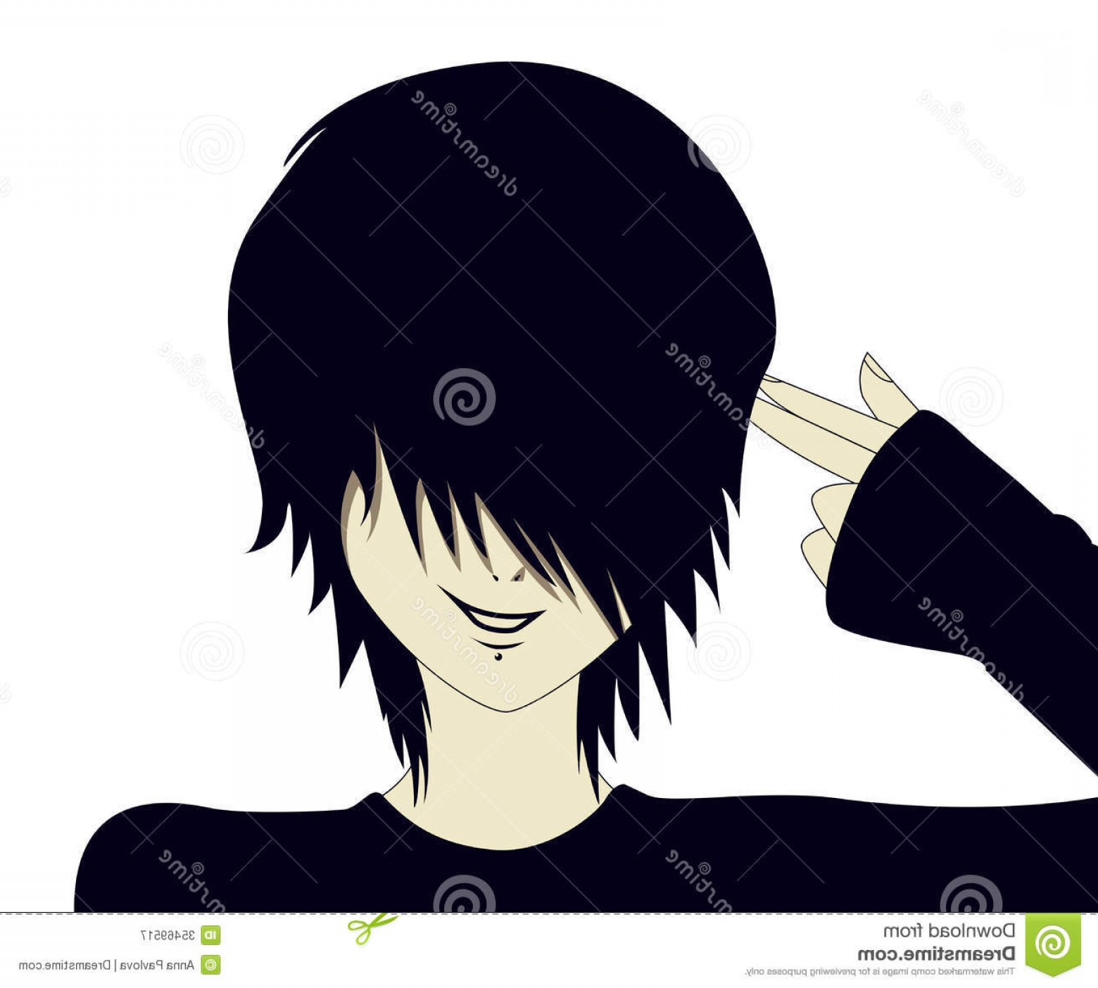 Finger Gun To Head Vector: Royalty Free Stock Photography Emo Kid Finger Gun Young Hand Shaped Like Image