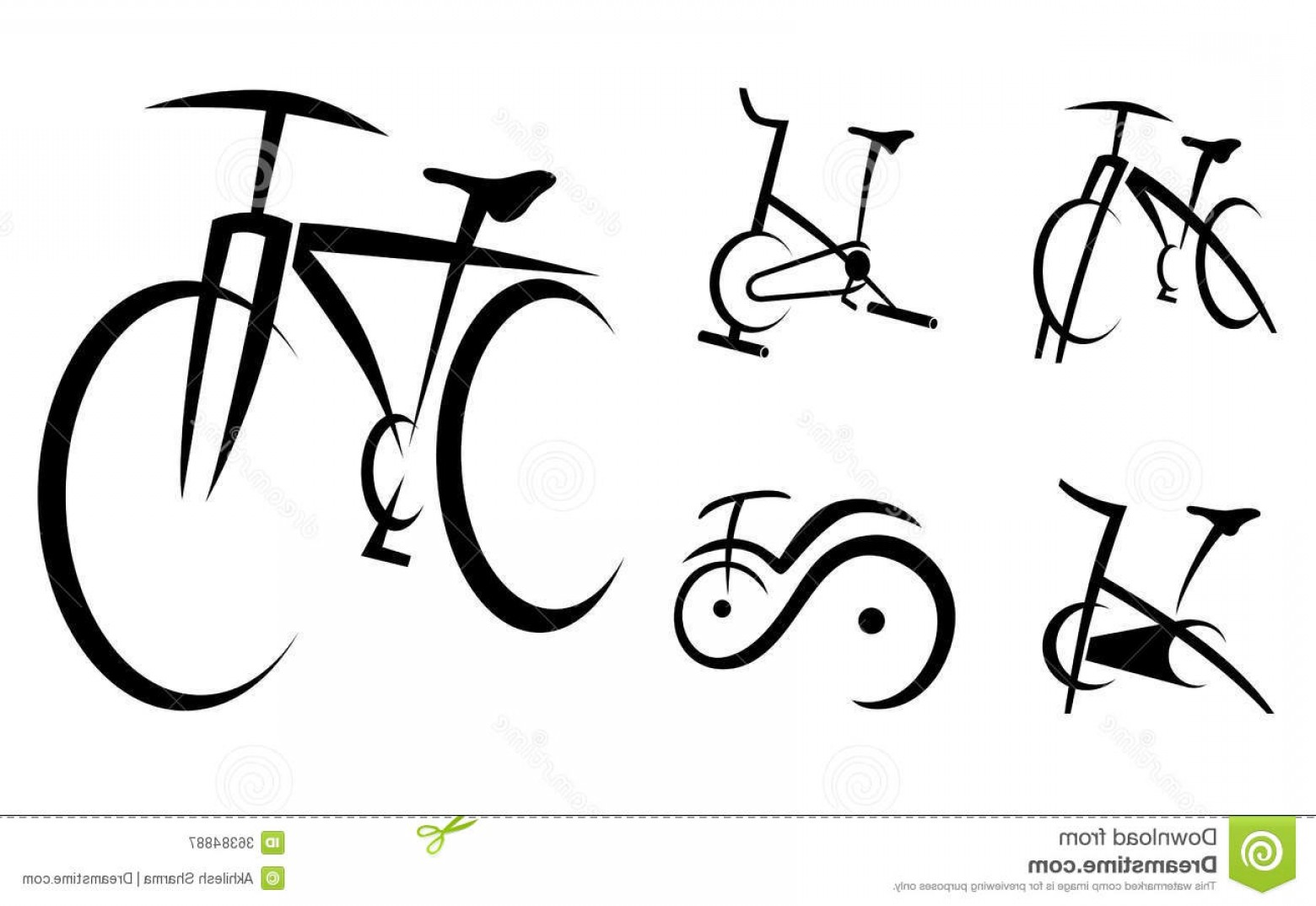 Indoor Cycling Bike Vector: Royalty Free Stock Photography Exercise Bike Cycle Health Equipment Vector Illustration Image