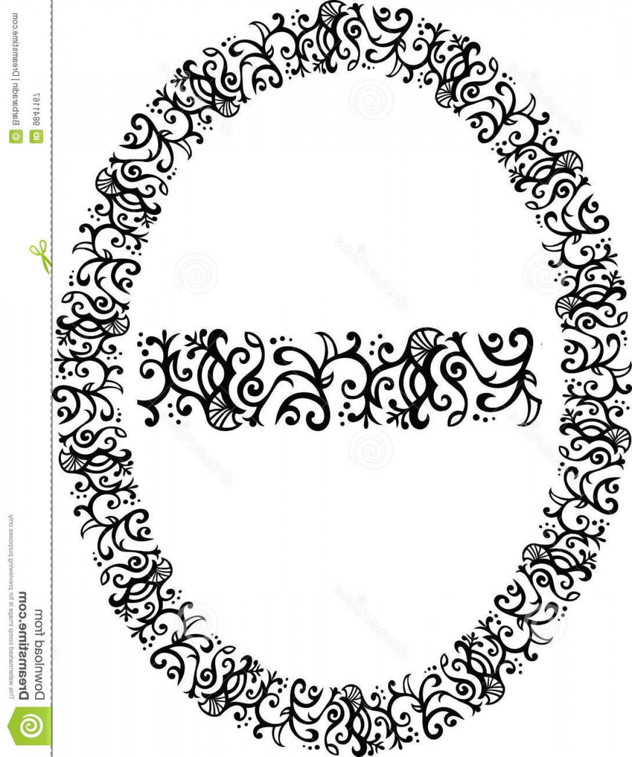 Filigree Oval Frame Vector: Royalty Free Stock Photography Filigree Vector Border Image