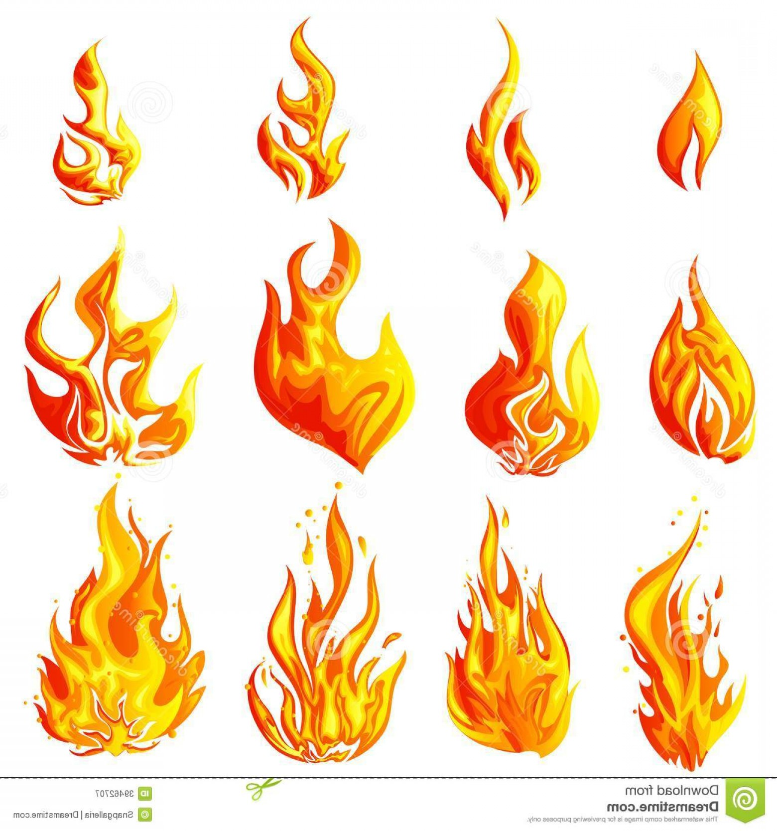 Vector Flame Stick Pattern: Royalty Free Stock Photography Fire Flame Easy To Edit Vector Illustration Collection Image