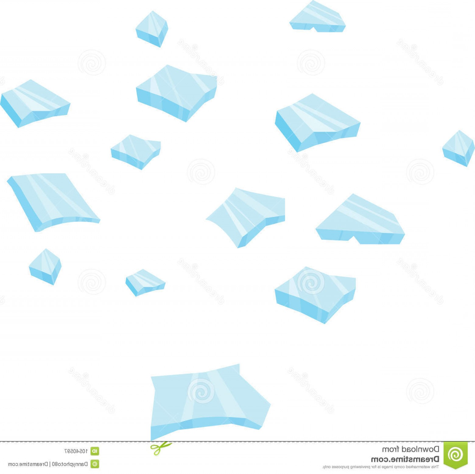 Vector Broken Pieces: Royalty Free Stock Photography Glass Piece Image