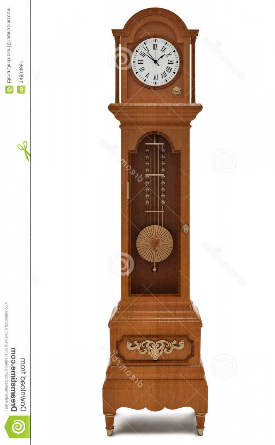 Old Floor Clock Vector: Royalty Free Stock Photography Grandfather S Clock White Background Image