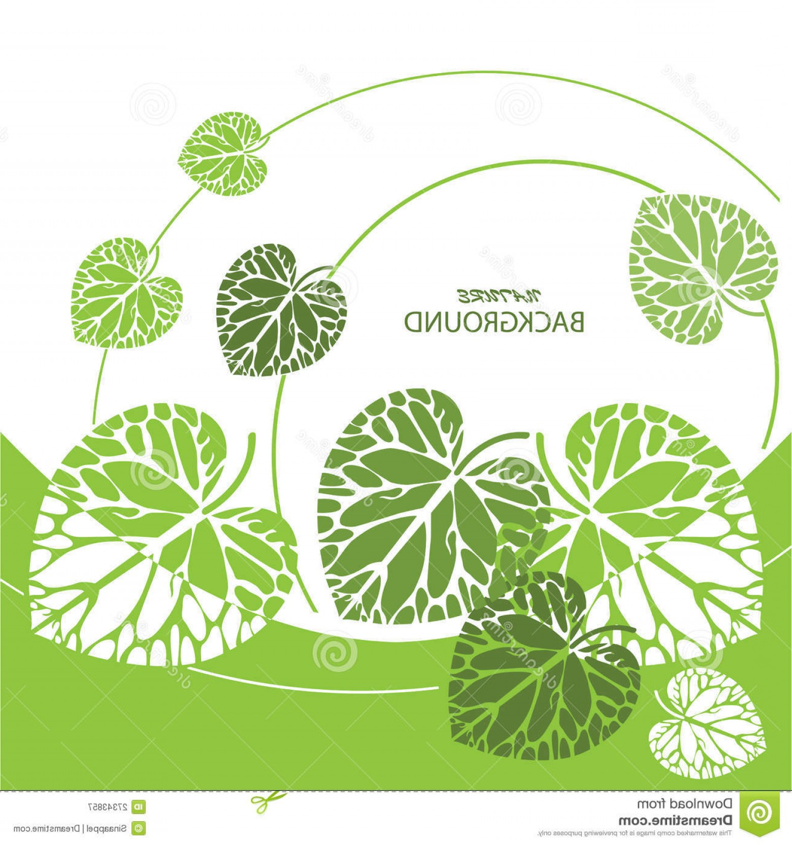 Leaf Background Vector: Royalty Free Stock Photography Green Leaves Background Vector Illustration Image
