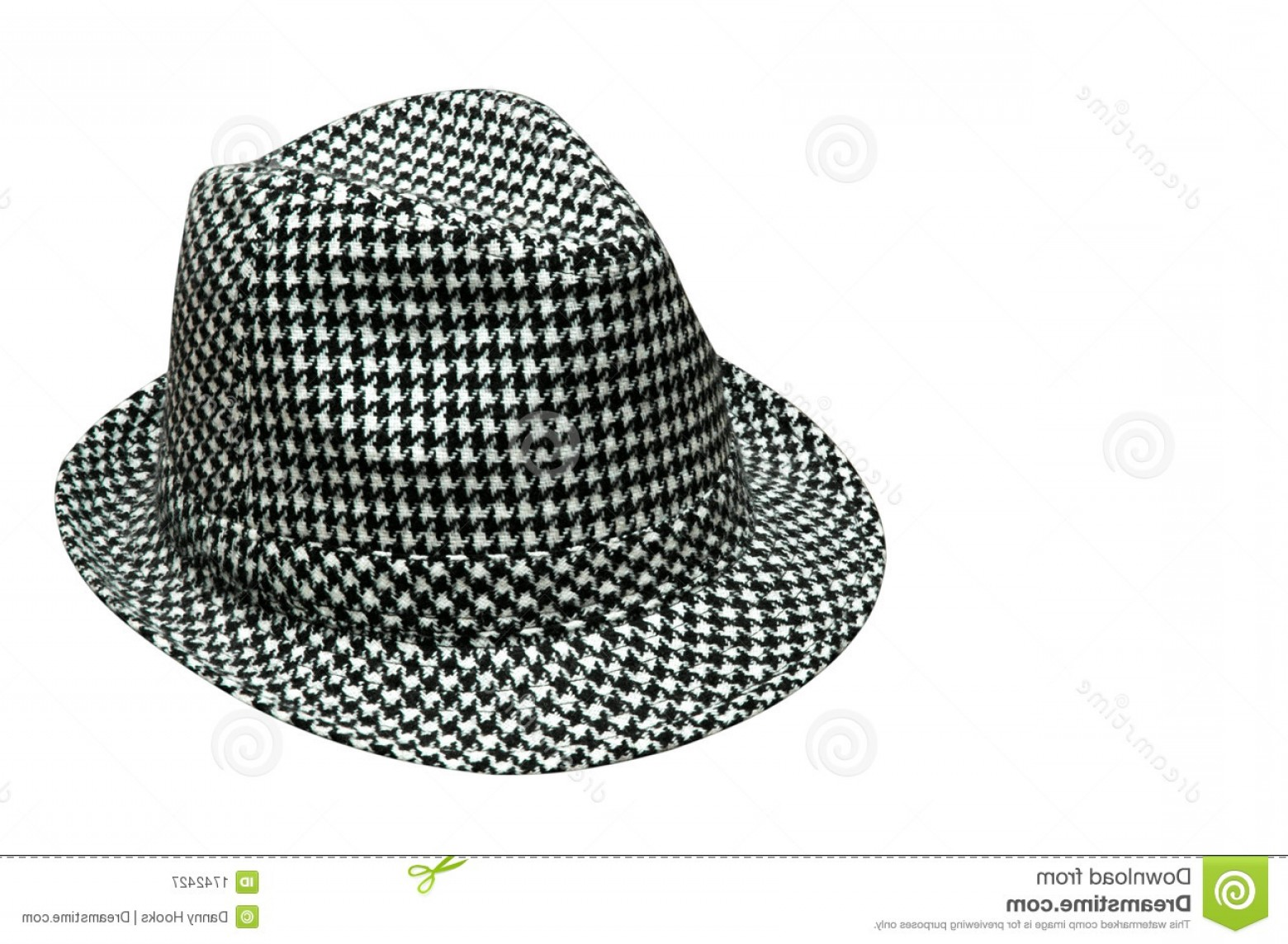 Houndstooth Hats Vector: Royalty Free Stock Photography Houndstooth Hat Image