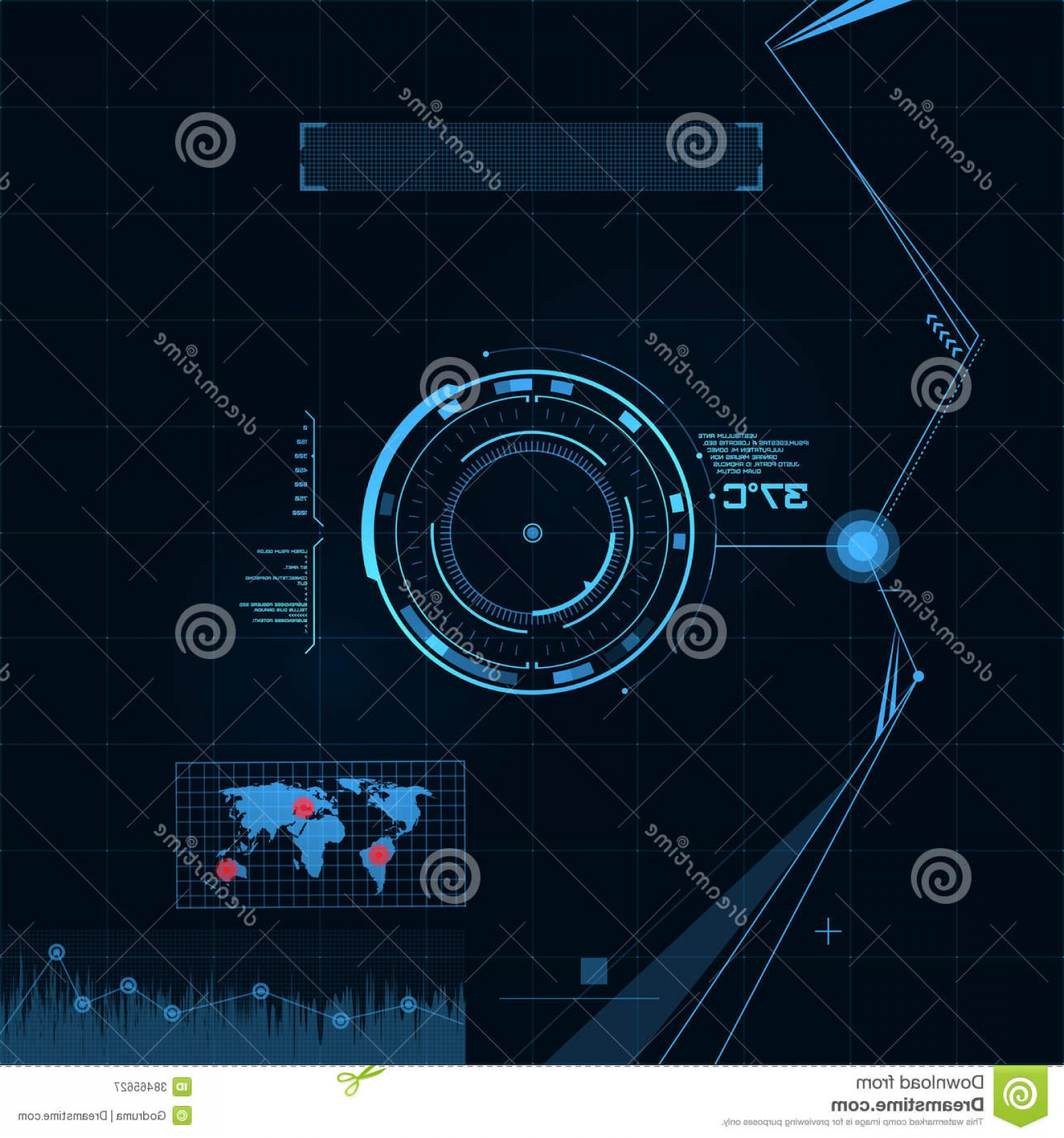 Futuristic Render Vector Graphics: Royalty Free Stock Photography Hud Gui Set Futuristic User Interface Vector Illustration Your Design Image