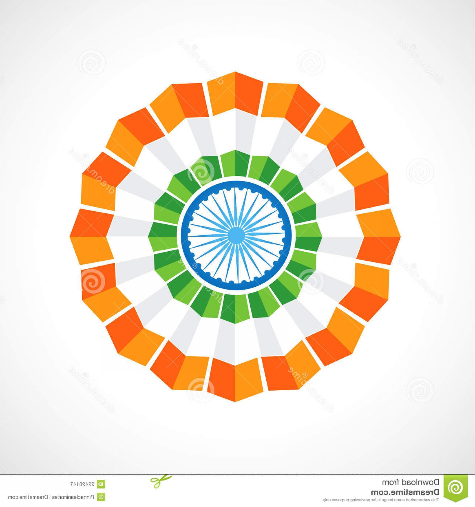India Flag Vector: Royalty Free Stock Photography Indian Flag Badge Vector Design Image