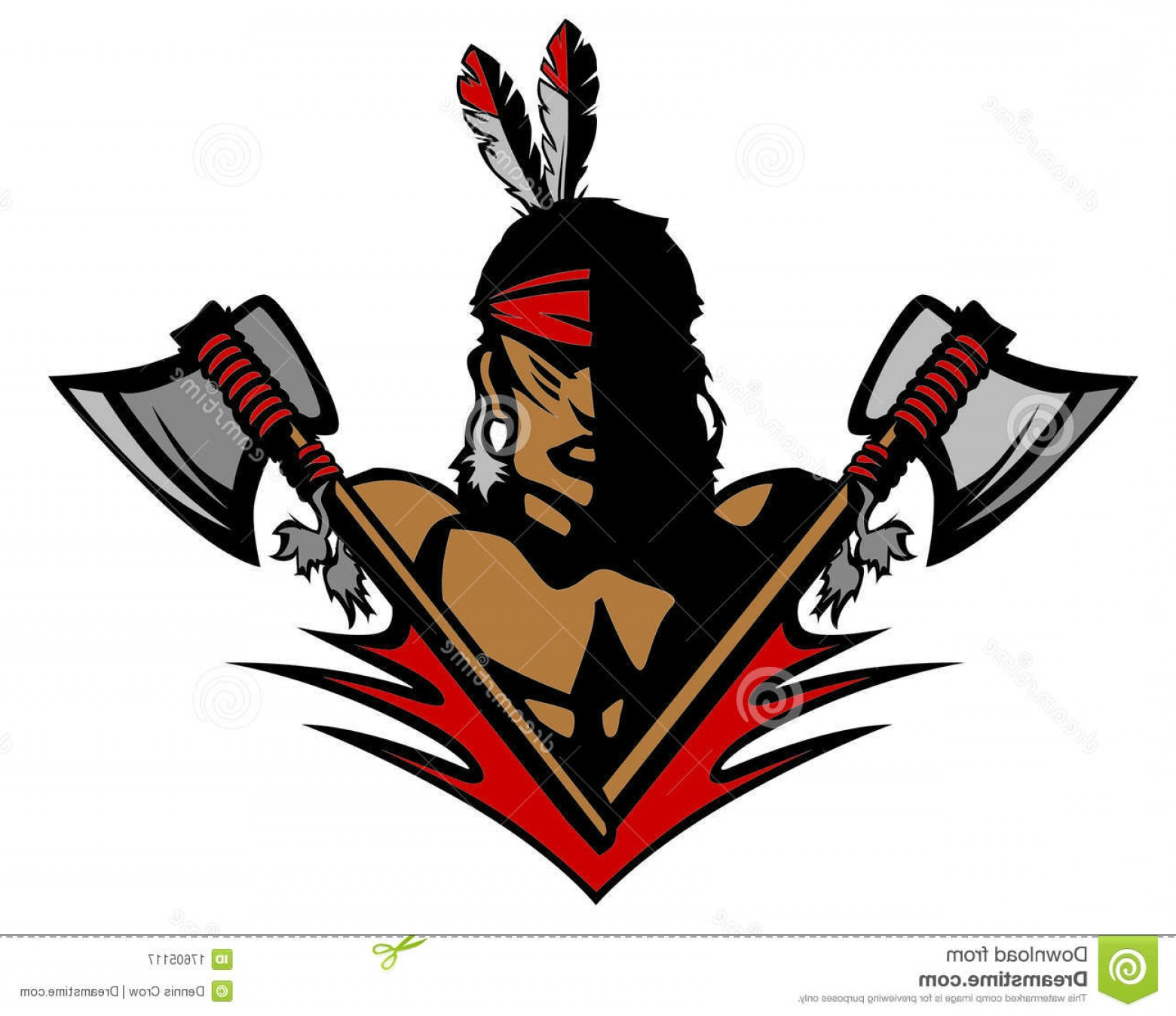 Braves Logo Vector: Royalty Free Stock Photography Indian Mascot Vector Logo Image