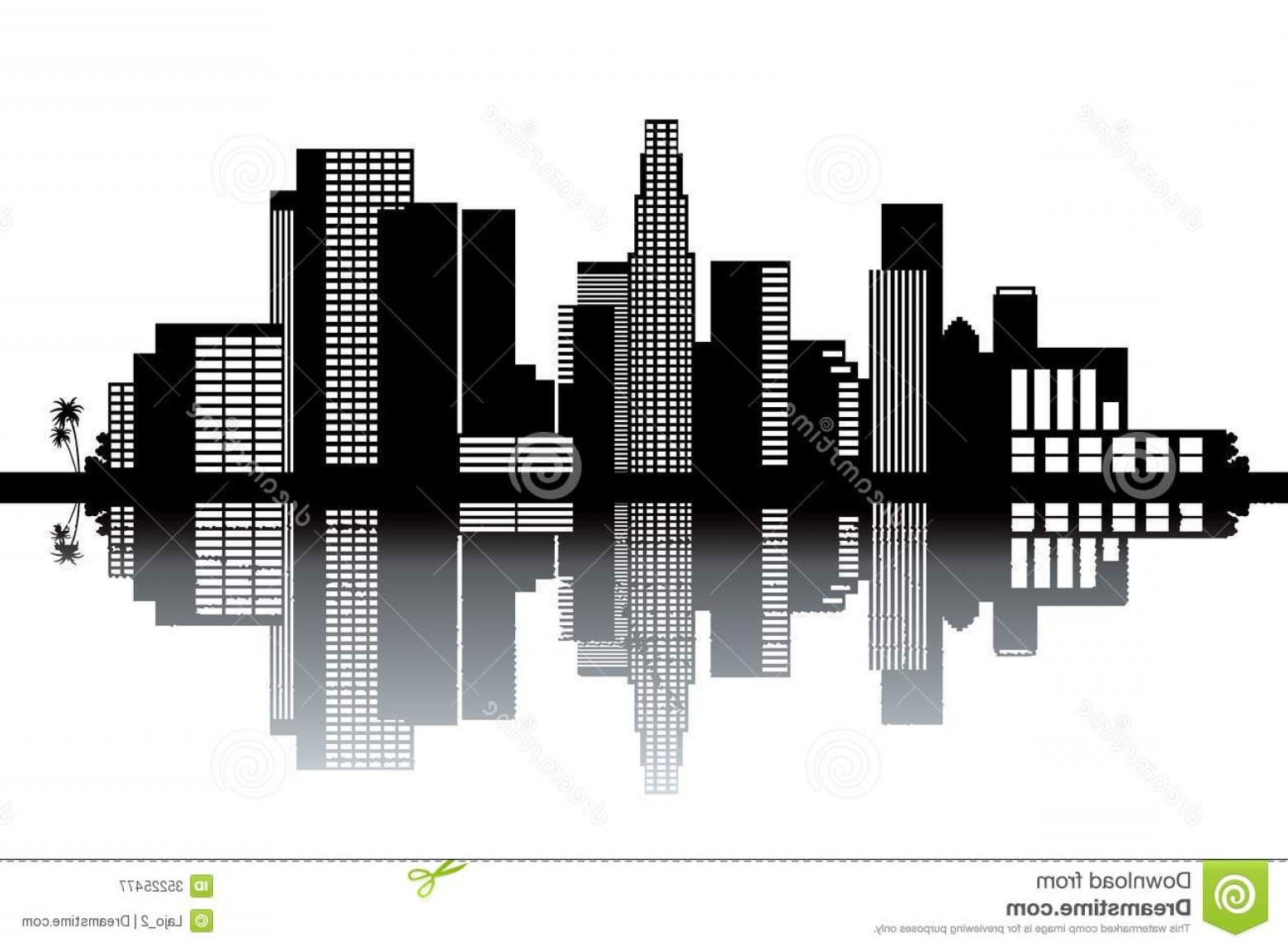 Hollywood Skyline Silhouette Vector: Royalty Free Stock Photography Los Angeles Skyline Black White Vector Illustration Image