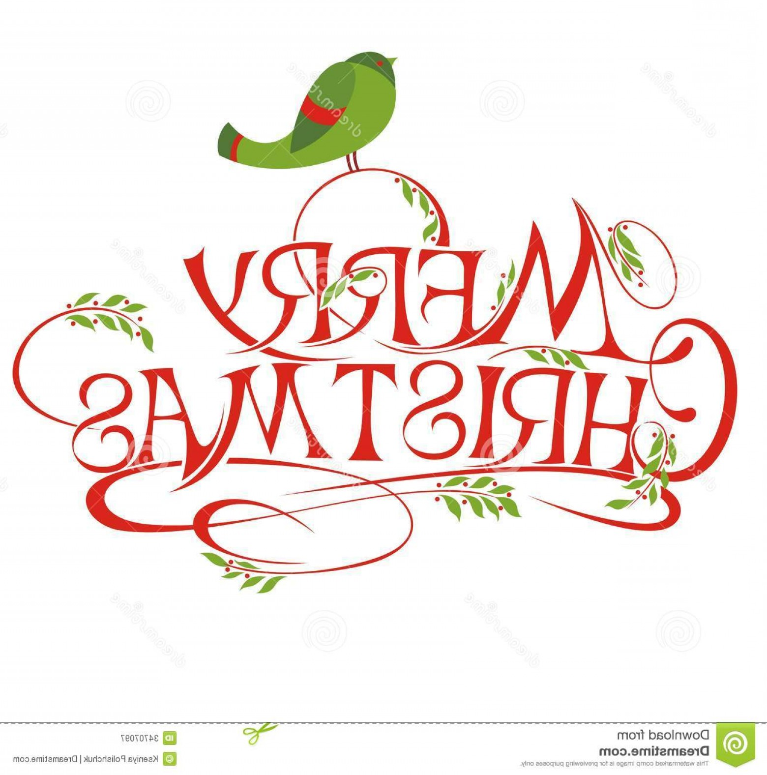 Merry Christmas Vector Graphic: Royalty Free Stock Photography Merry Christmas Vector Calligraphic Lettering Image