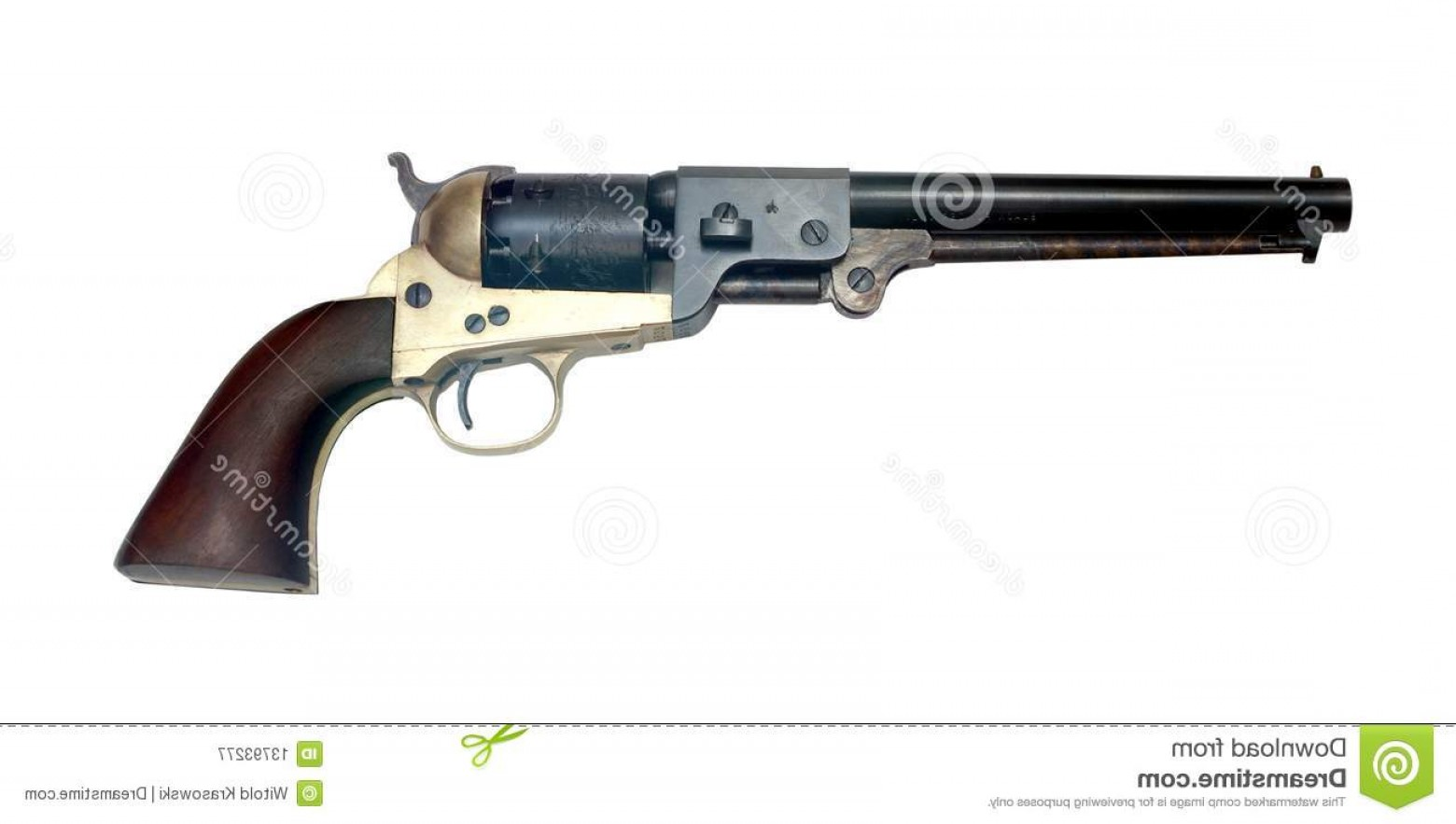Vector Old Colt Revolvers: Royalty Free Stock Photography Old Metal Colt Revolver Image