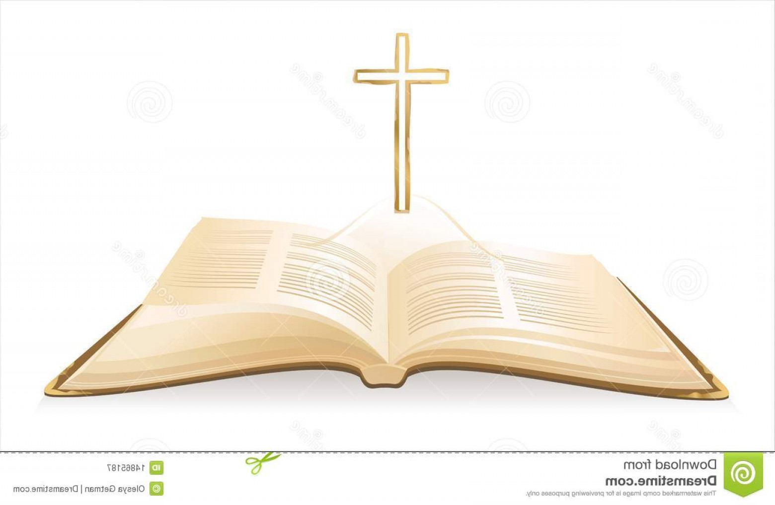 Holy Bible Vector: Royalty Free Stock Photography Opened Holy Bible Image