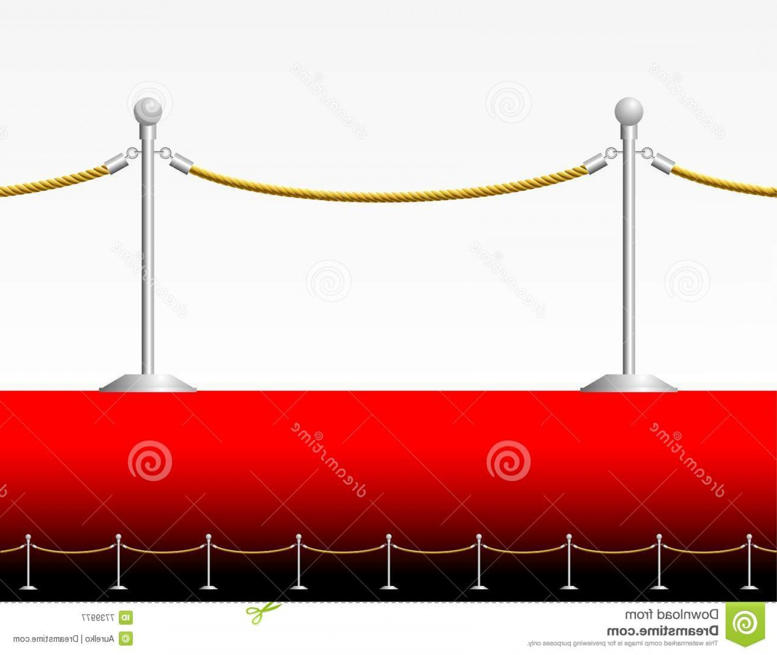 Carpet Vector 2D: Royalty Free Stock Photography Red Carpet Fence Image
