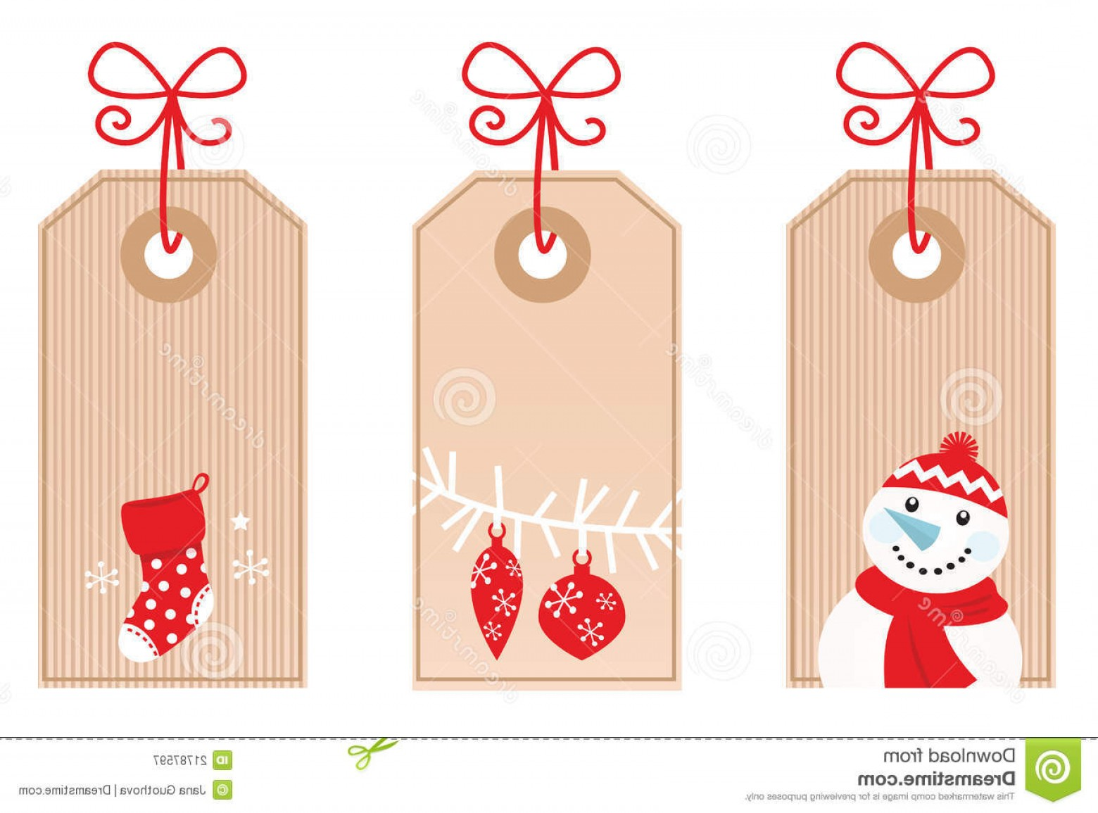 Gift Tags Vector Art: Royalty Free Stock Photography Retro Christmas Gift Tags Red Image