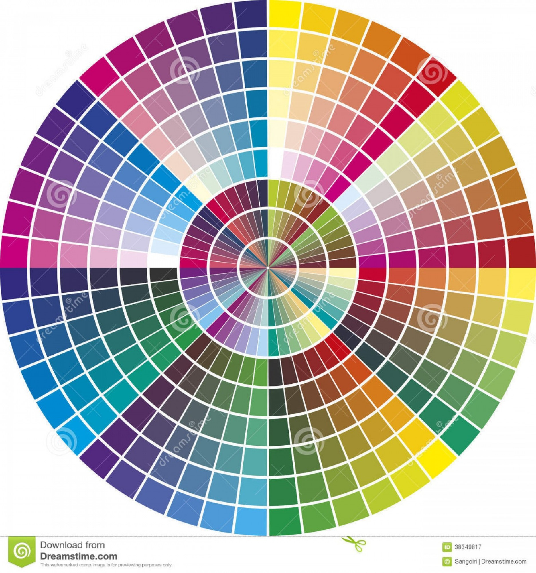 Color CMYK Chart Vector Free: Royalty Free Stock Photography Round Vector Color Chart Printing Industry Different Tones Promotion Advertising Image