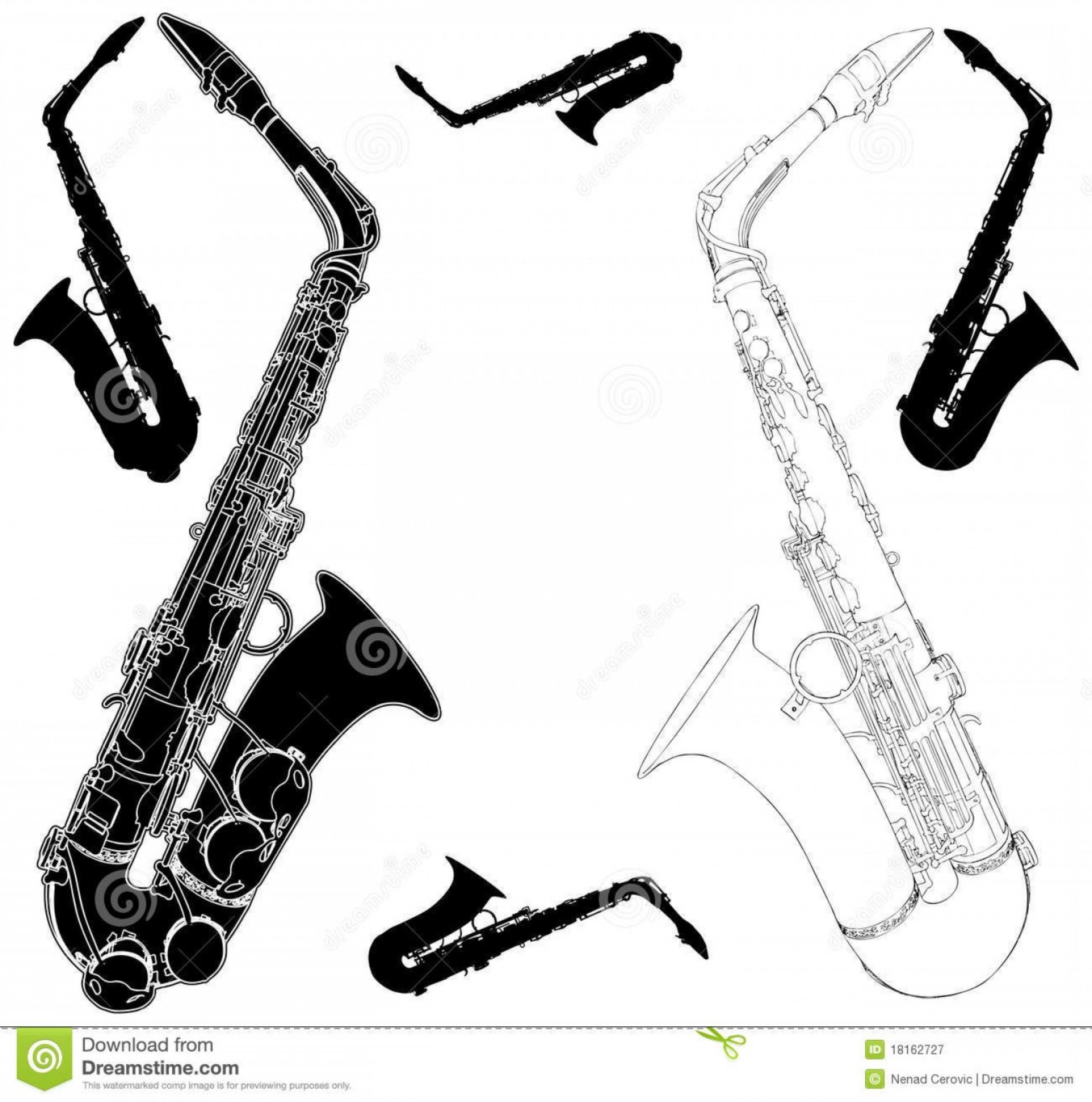 Alto Saxophone Vector Graphics: Royalty Free Stock Photography Saxophone Vector Image