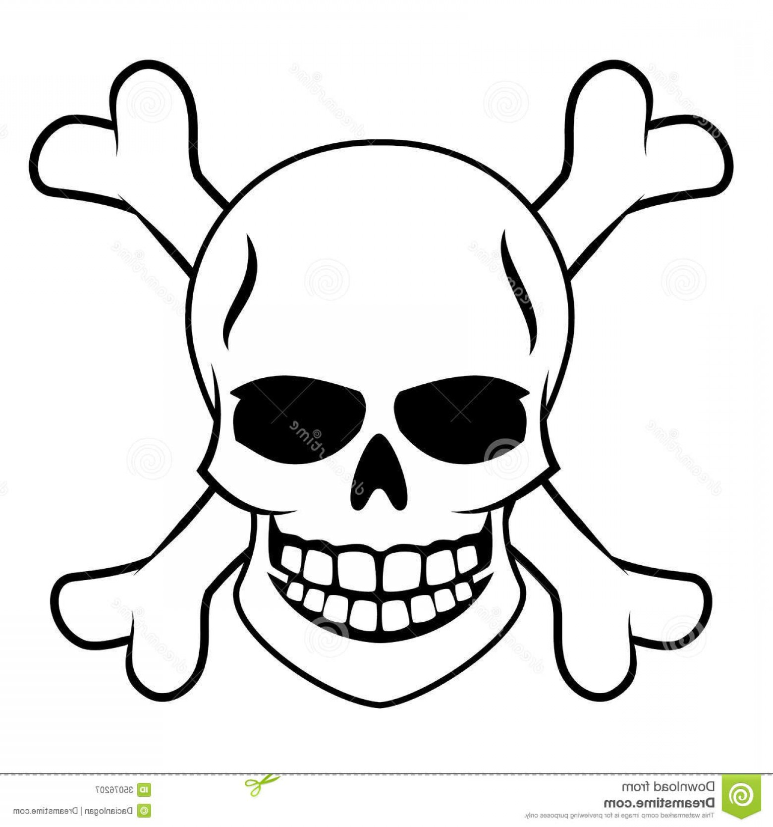 Skull ND Crossbones Vector: Royalty Free Stock Photography Skull Crossbones Vector Illustration Image