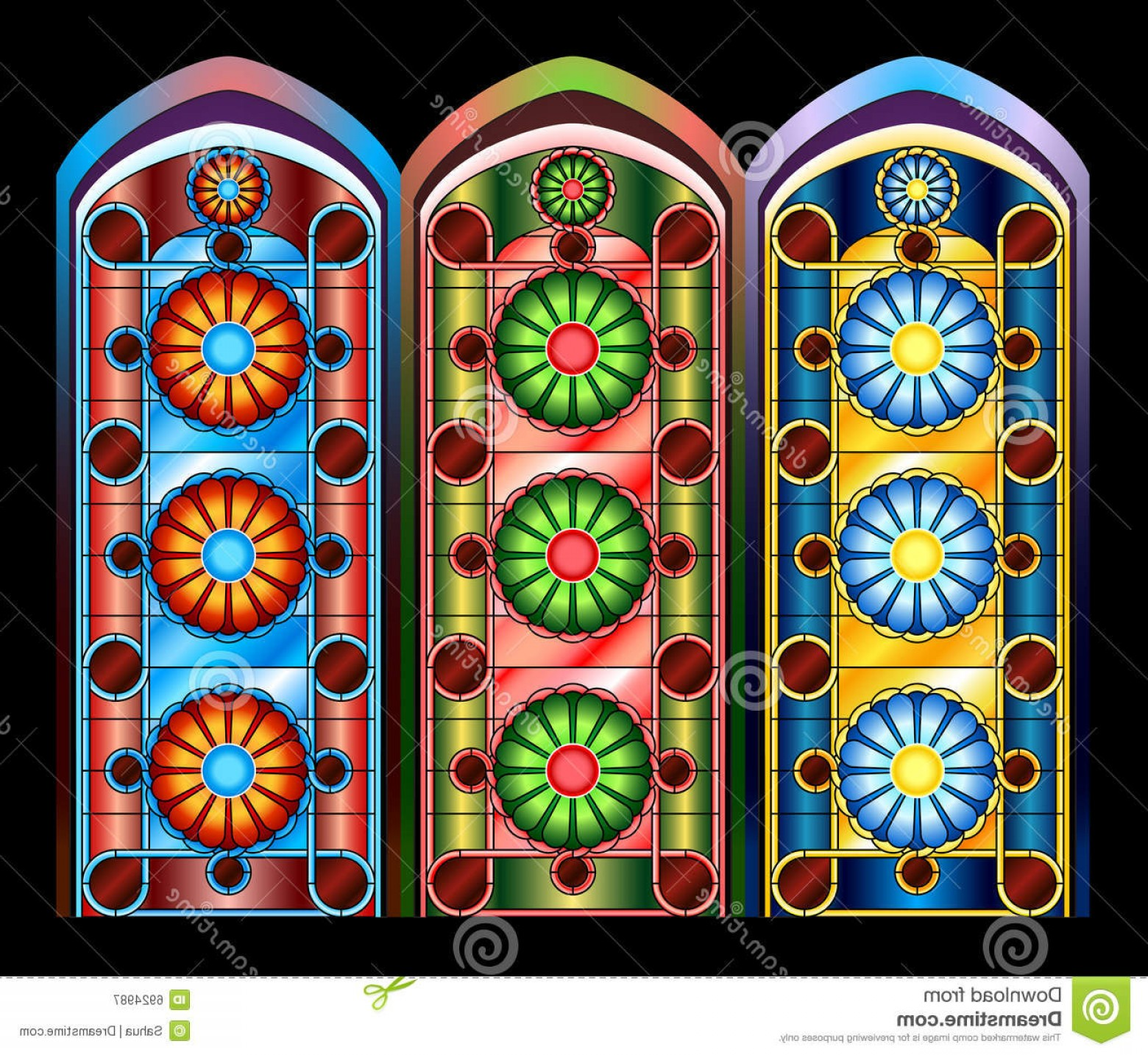 Amazing Window Vector: Royalty Free Stock Photography Stained Glass Windows Image