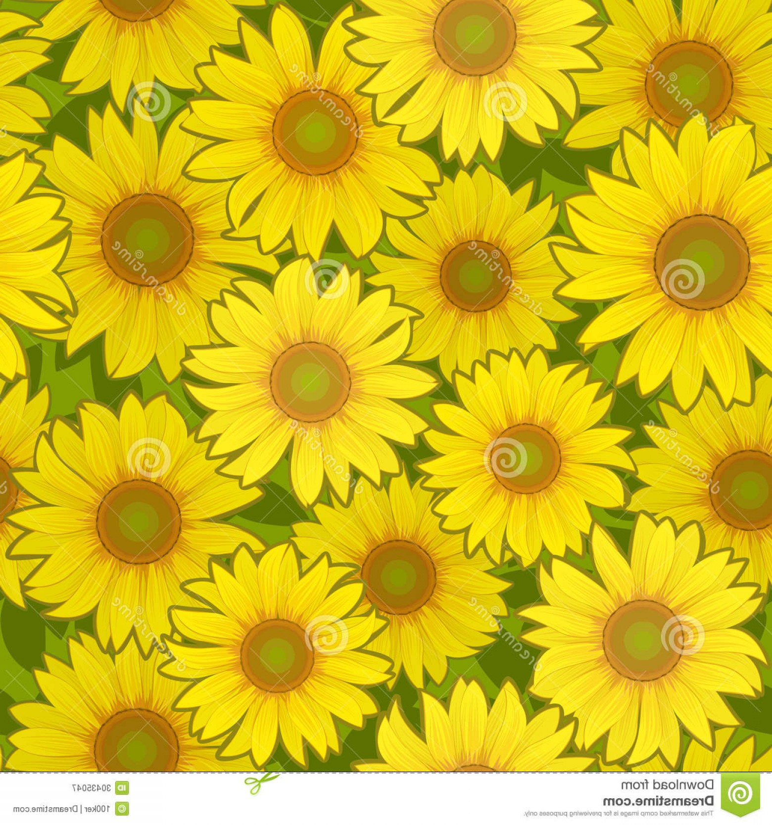 Sunflower Vector Pattern: Royalty Free Stock Photography Sunflower Flower Seamless Background Vector Yellow Pattern Image